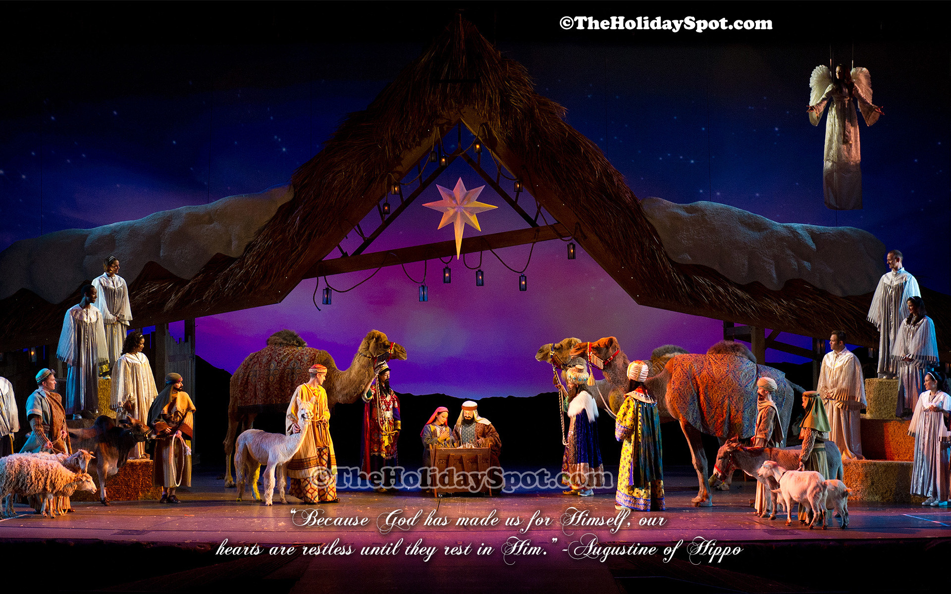 1920x1200 A beautiful christmas wallpaper depicting the birth Of Jesus.