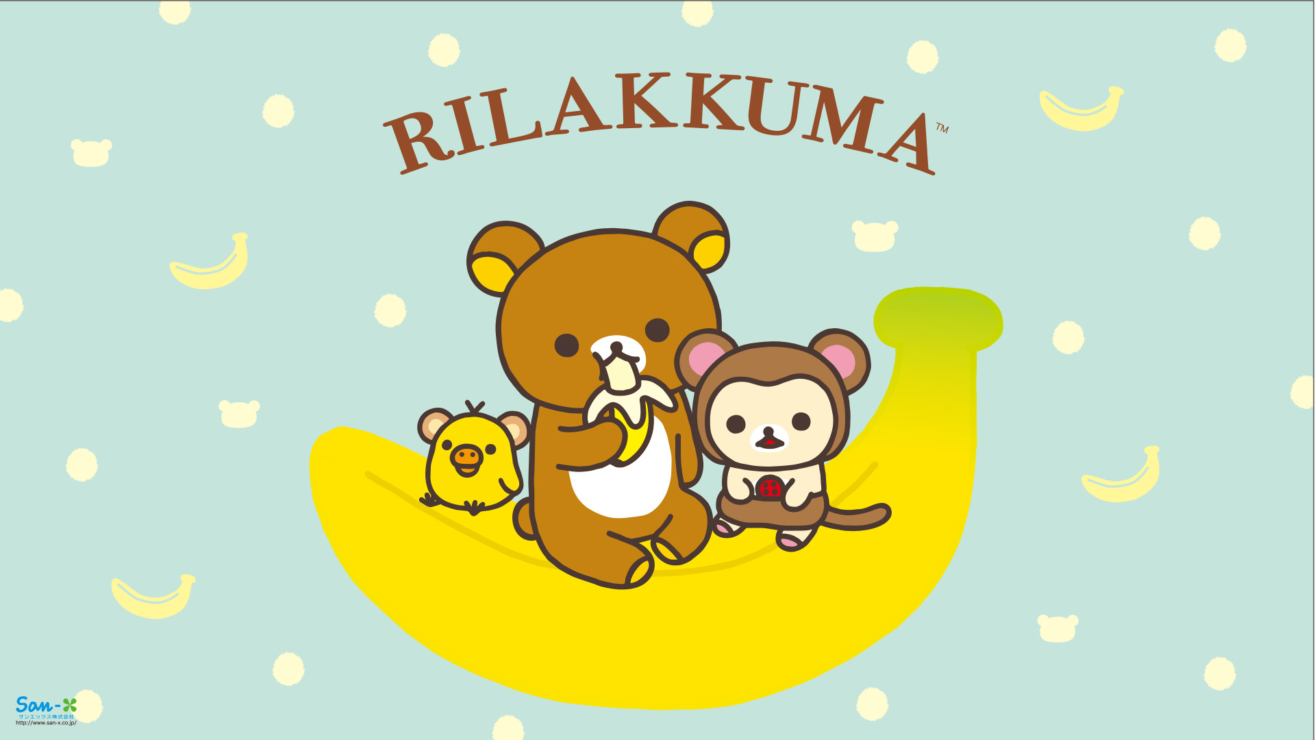 1920x1080 Monkey Rilakkuma Wallpaper