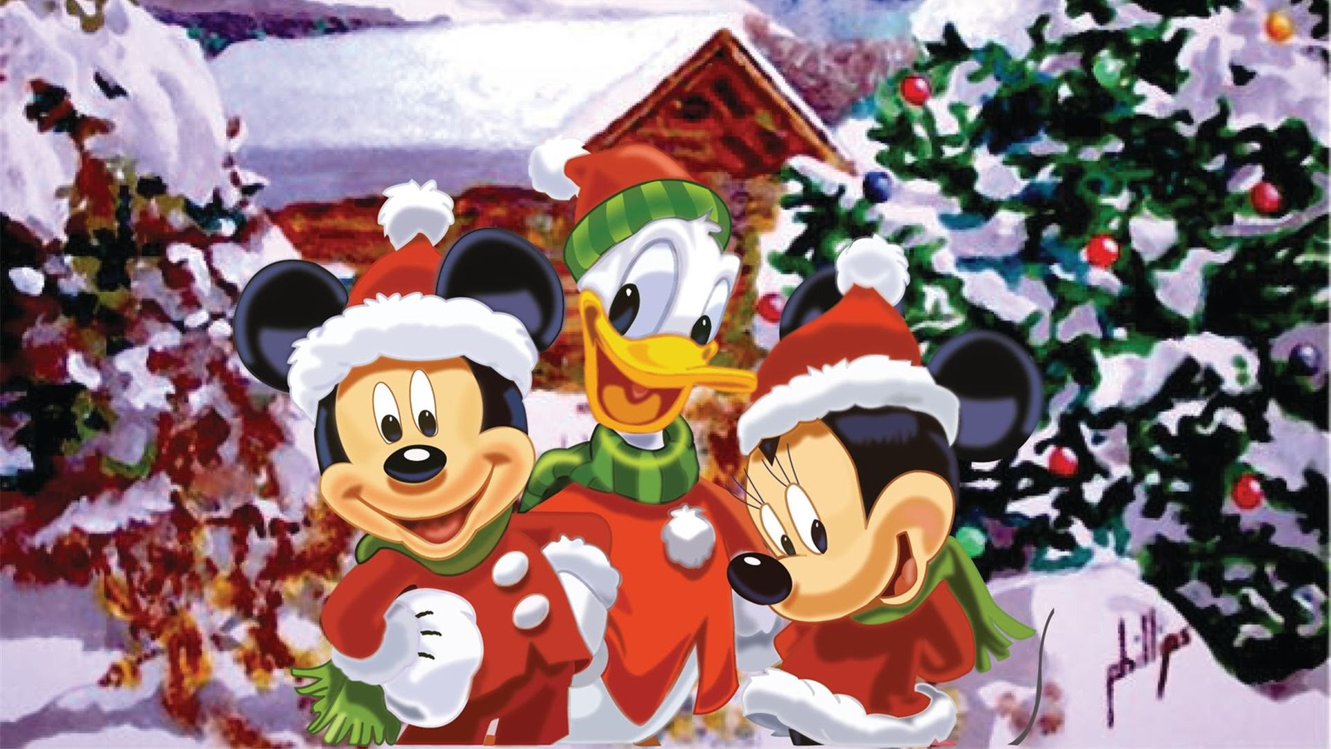 1920x1080 Download free Mickey Mouse Christmas Wallpapers