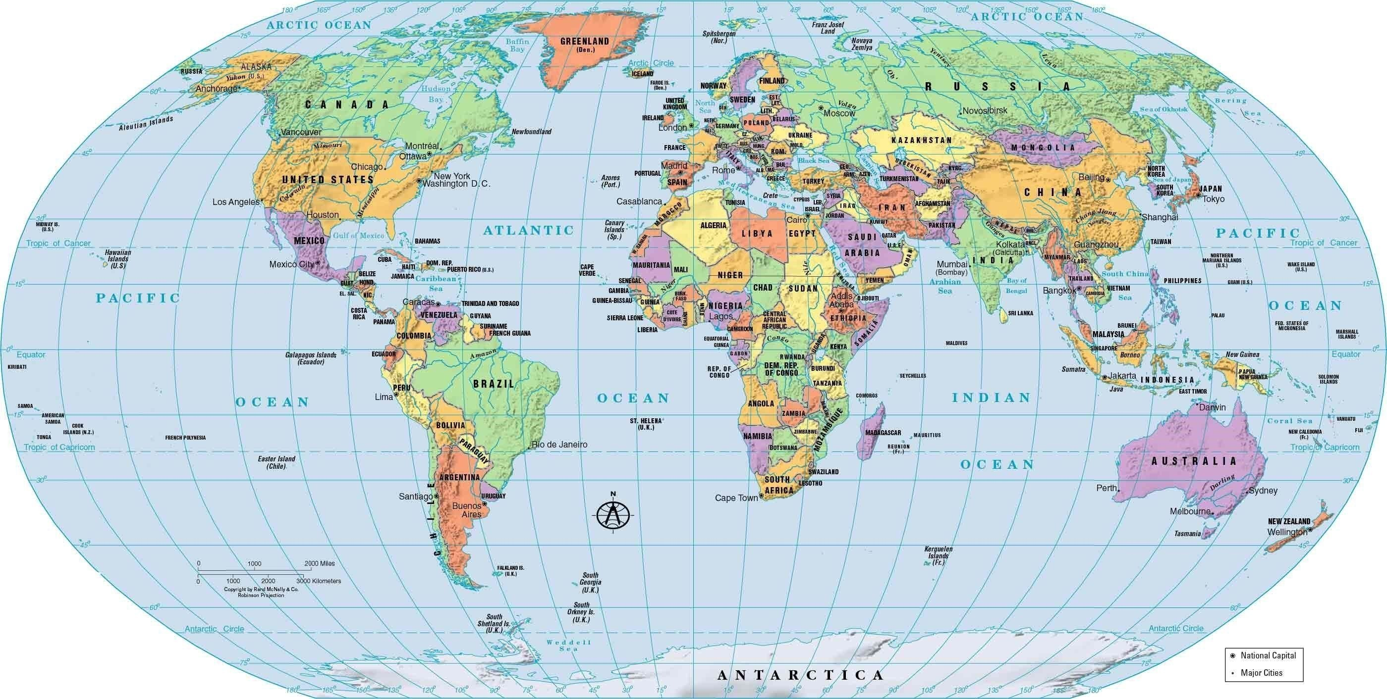 2799x1412 Political World Map High Resolution Image Wallpapers Atlas Us Time Zone  Fresh Roundtripticket