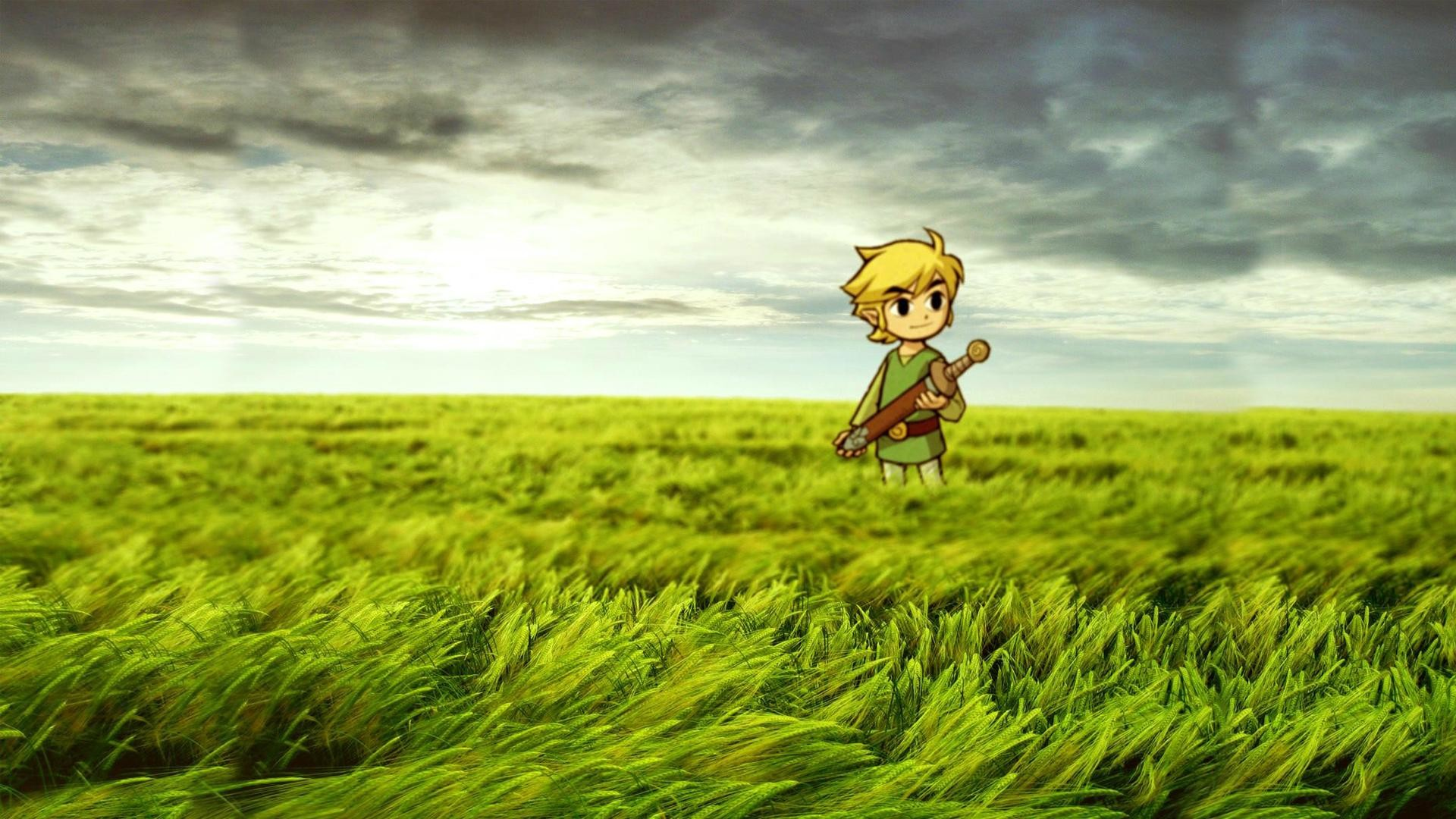 1920x1080 Zelda Link Grass HD wallpaper