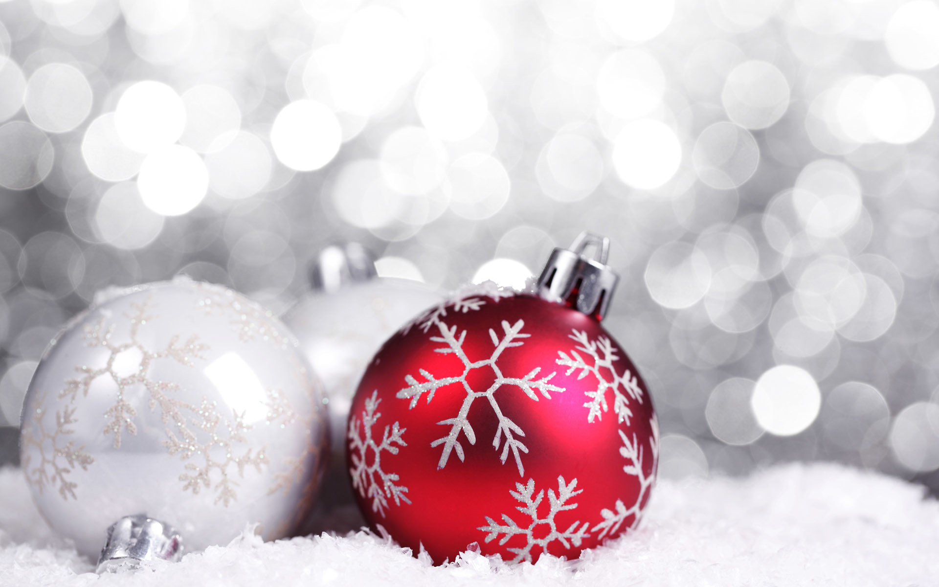 1920x1080 White And Gold Christmas Wallpaper 07