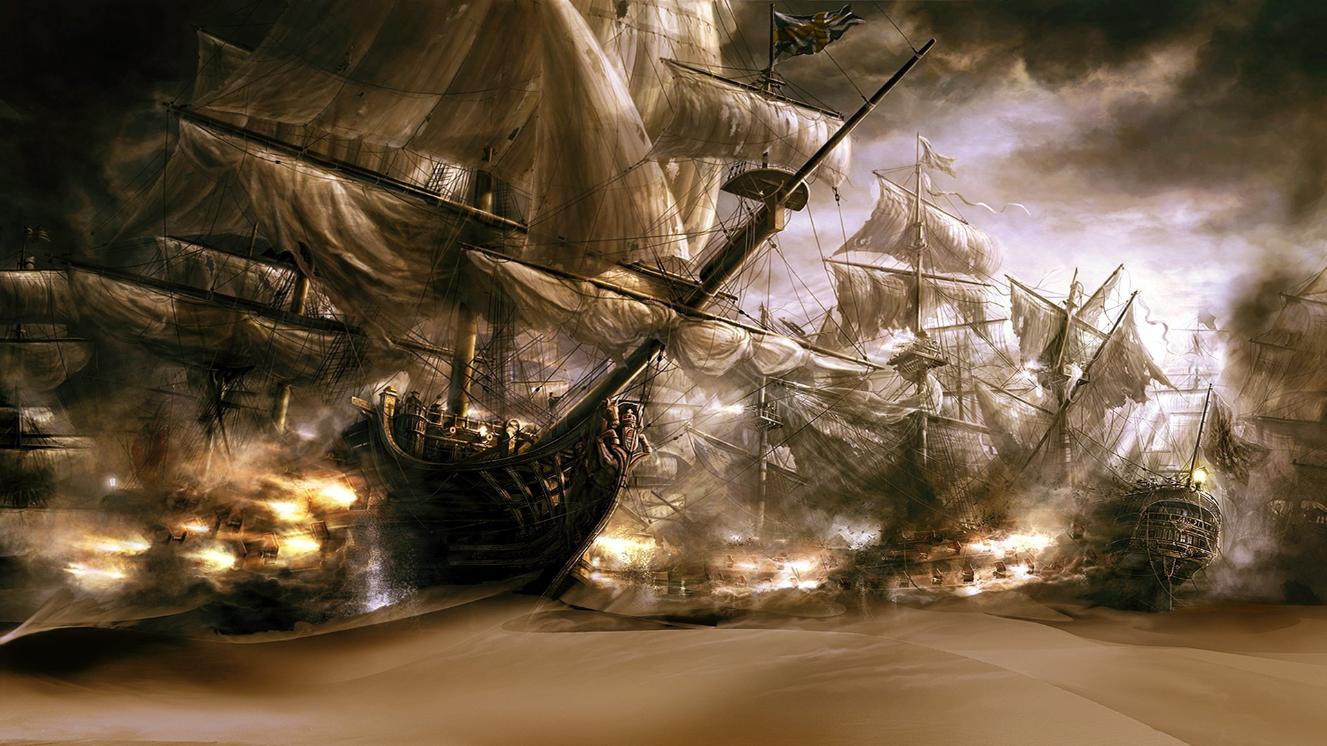 1920x1080 Ghost Pirate Ship Wallpaper For Iphone