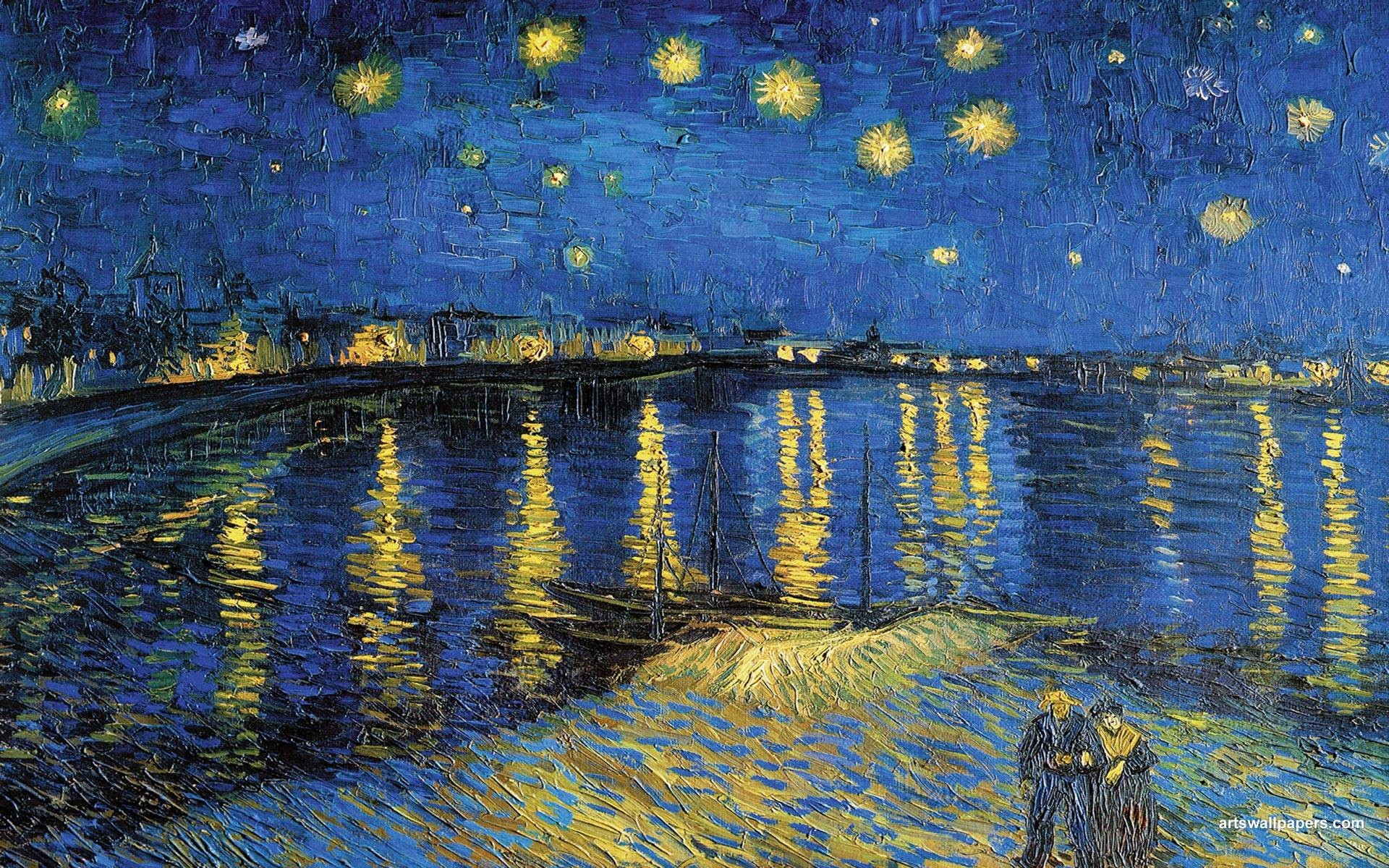 starry night over the rhone wallpaper (46+ images)