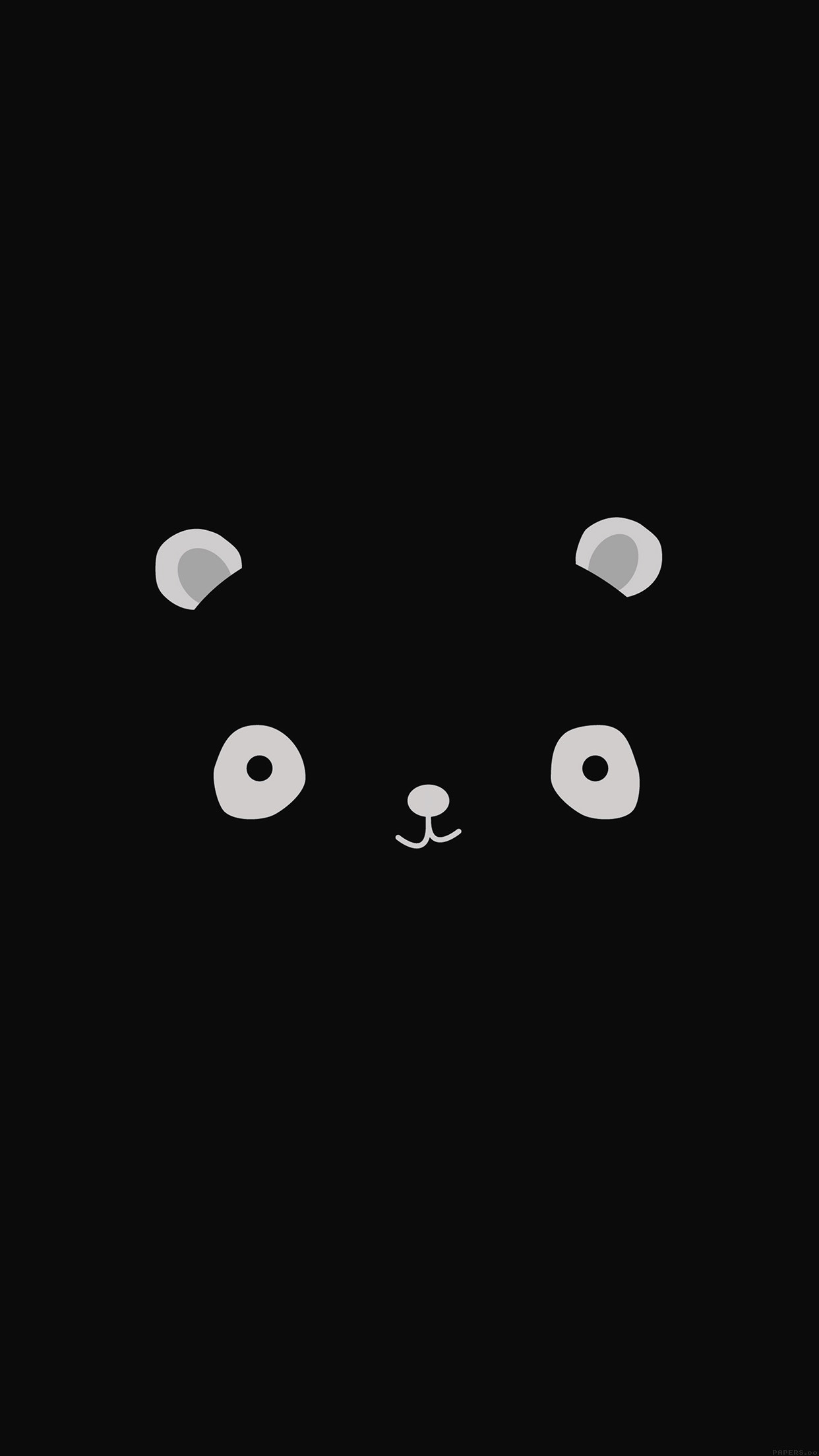 1242x2208 nice cute-minimal-panda-dark-illust-art-iphone6-plus