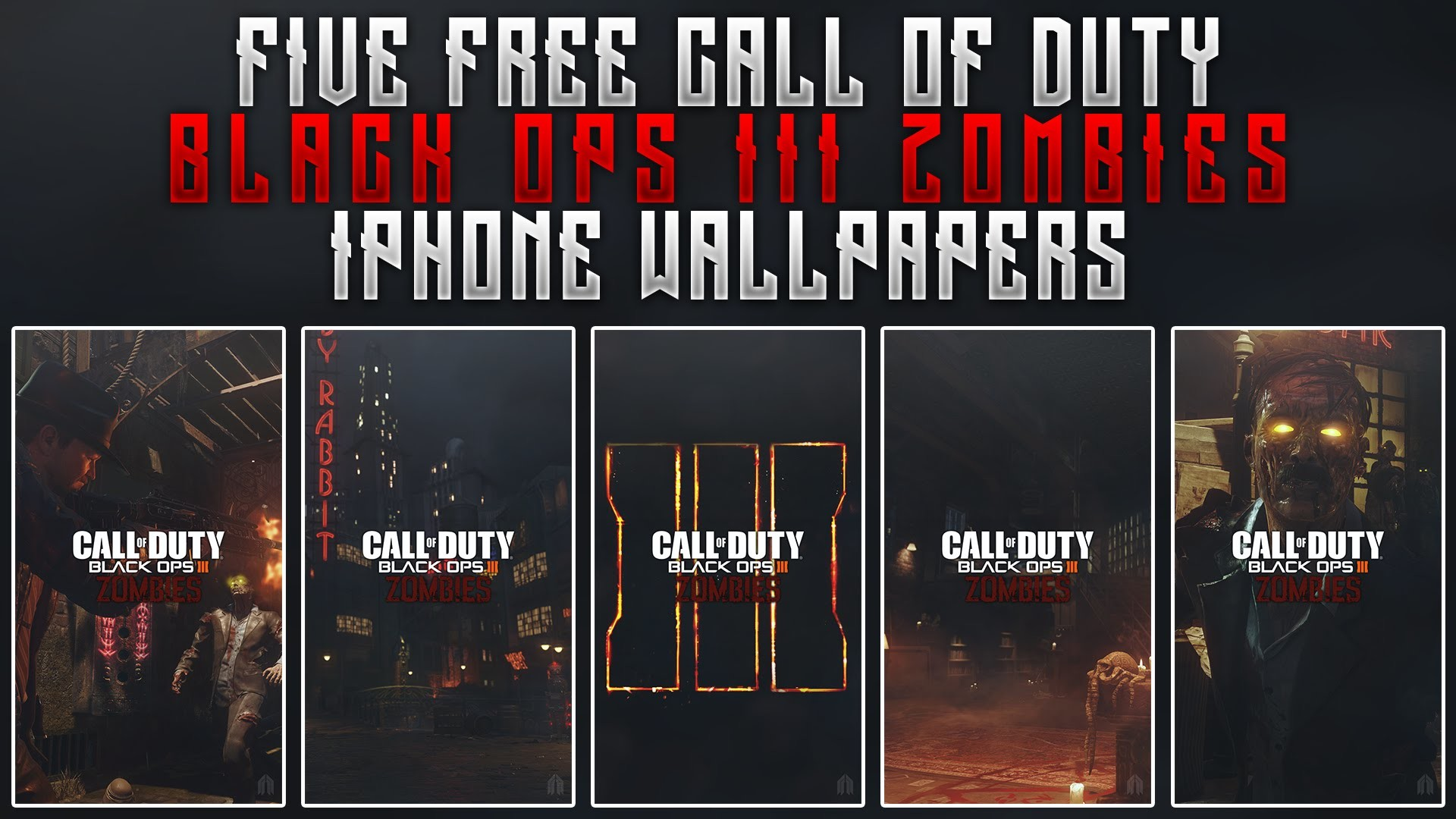 1920x1080 GFX Black Ops III Zombie iPhone Wallpaper Designs Free Wallpaper Pack -  YouTube