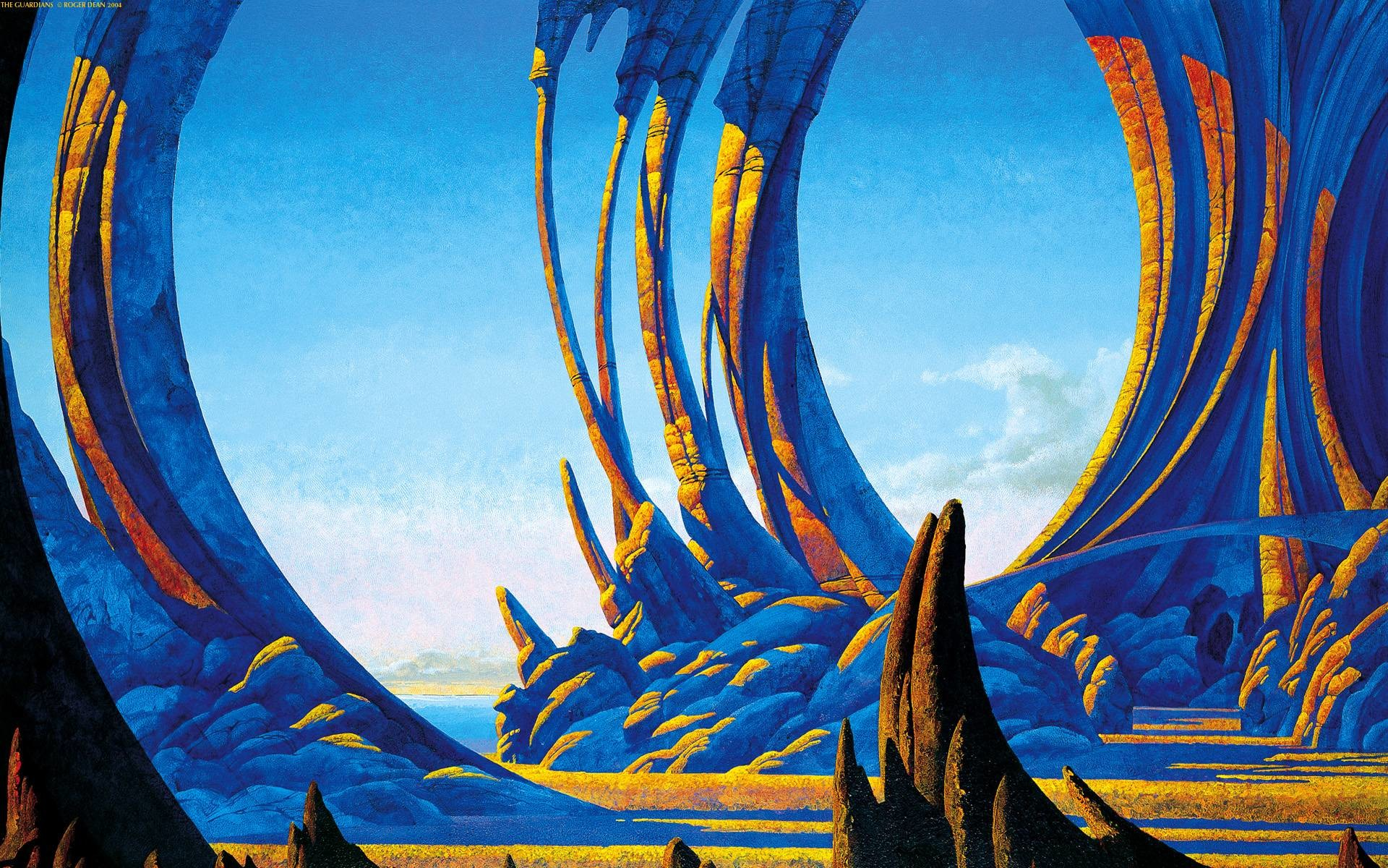 1920x1200 The Guardians by Roger Dean ...