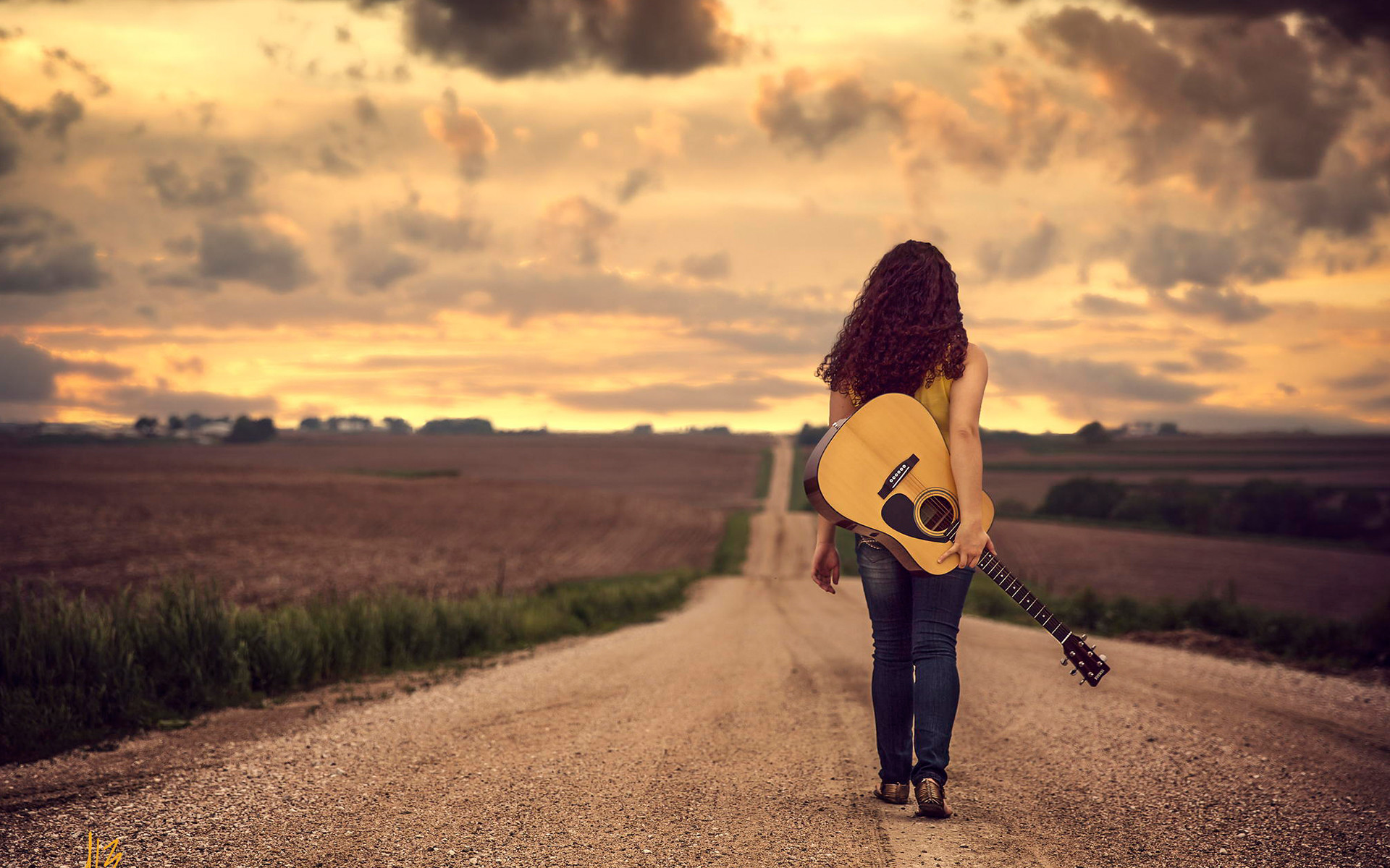 2560x1600 music guitar girl