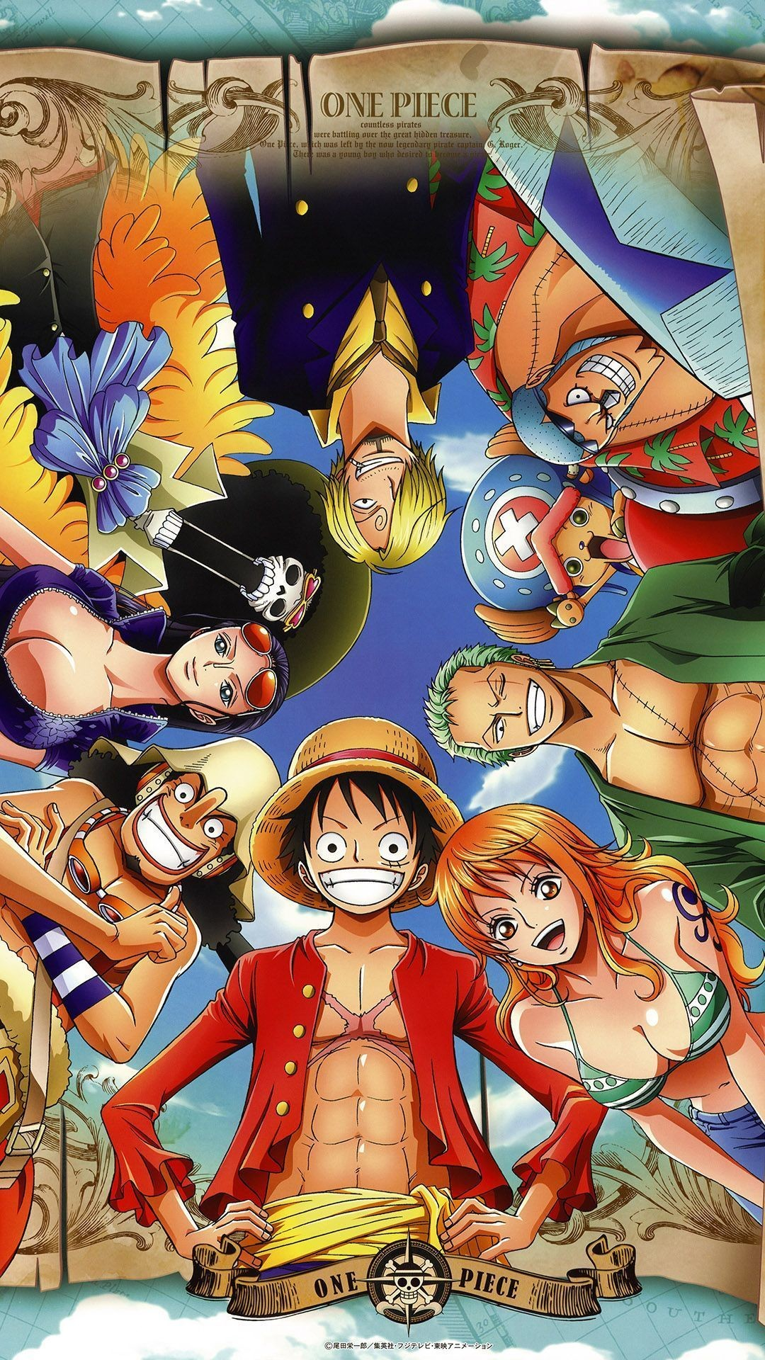 "1080x1920 Anime ""One Piece"" (gang of straw) - iPhone6 wallpaper"