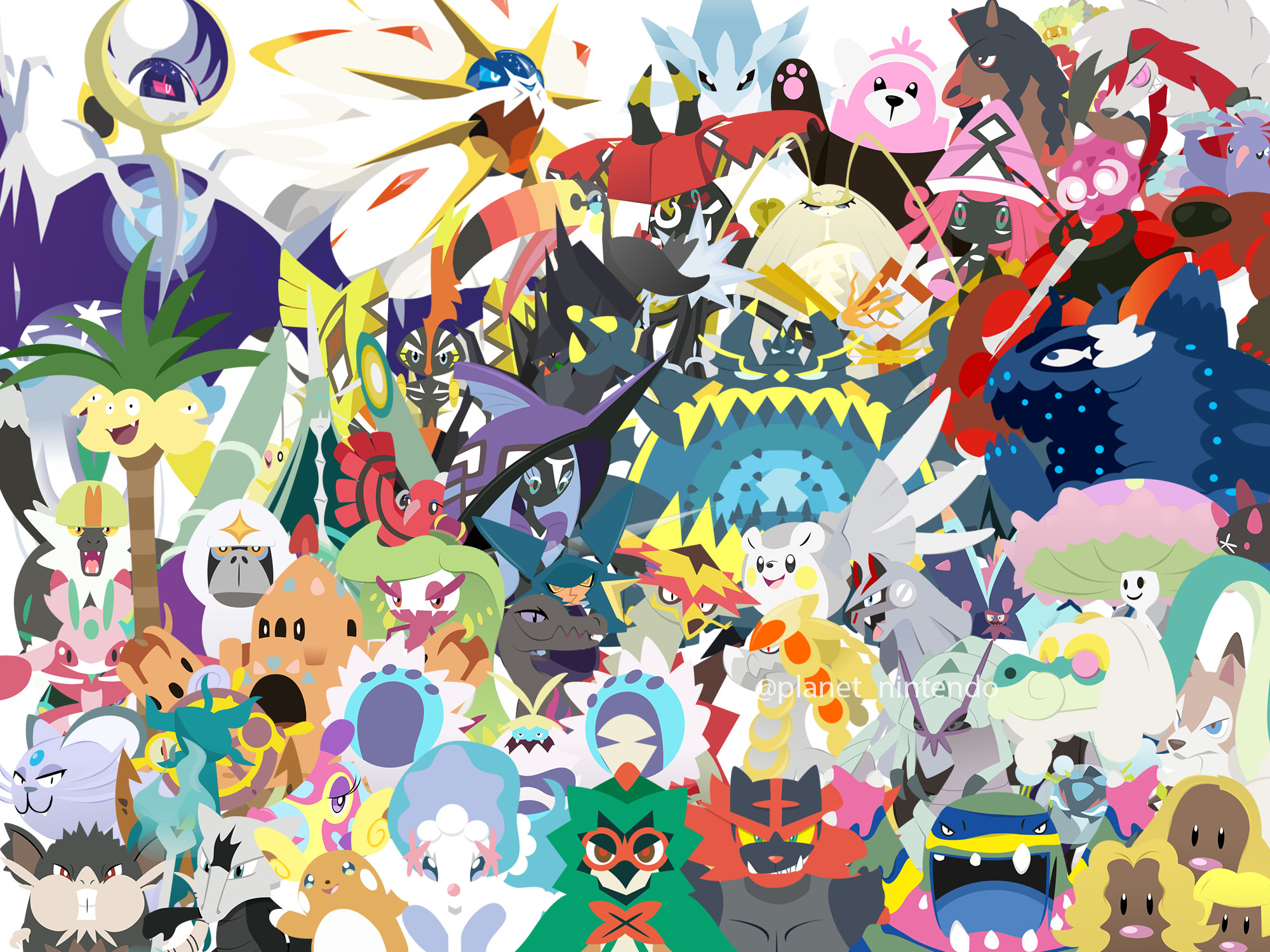 2000x1500 ... Pokemon Sun and Moon Wallpaper by PlanetNintendo