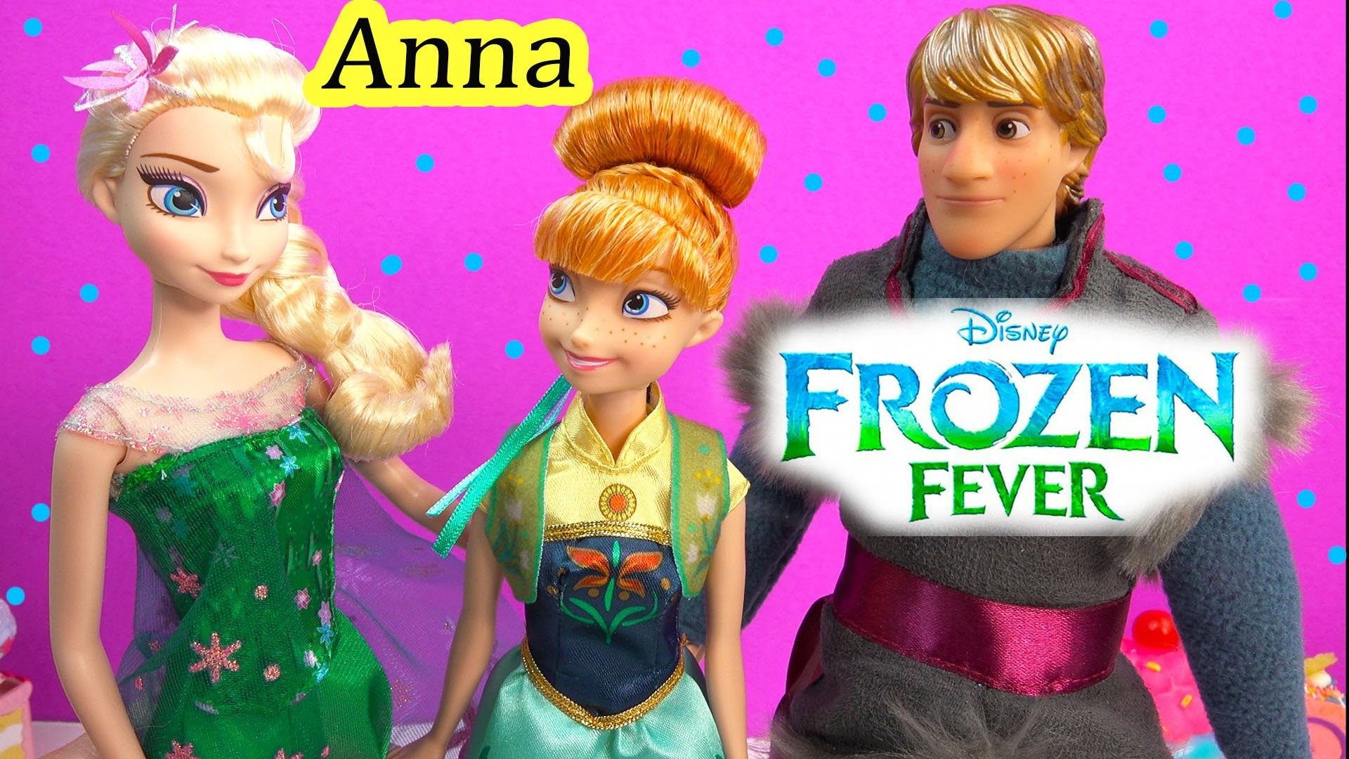 1920x1080 FROZEN FEVER Princess Anna Queen Elsa Birthday Party Doll From New Disney  Movie Unboxing Review - YouTube