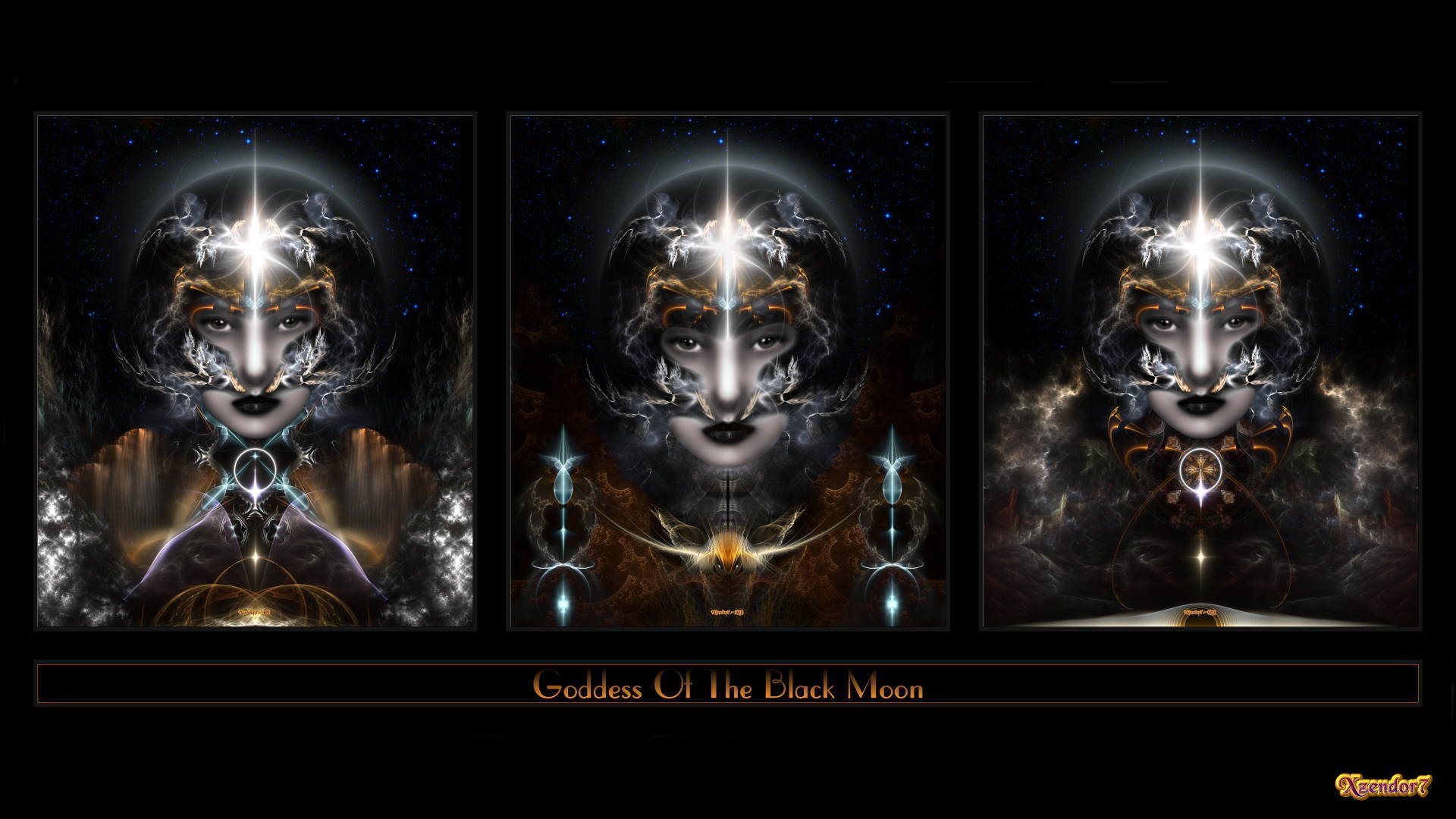 1920x1080 random images Triple Goddess Of The Black Moon Fractal Art Composition HD  wallpaper and background photos