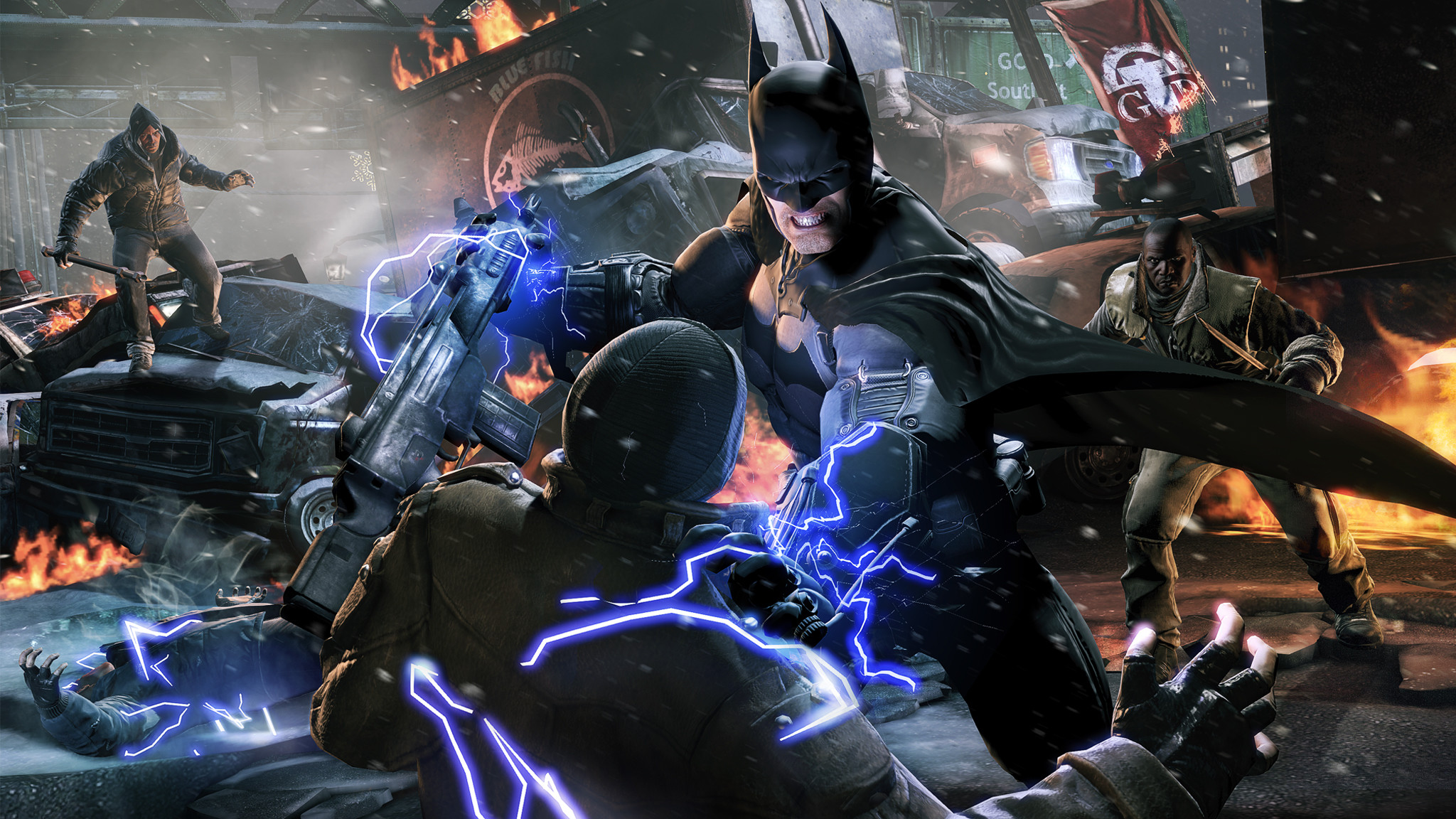 2048x1152 Batman: Arkham Origins the battle