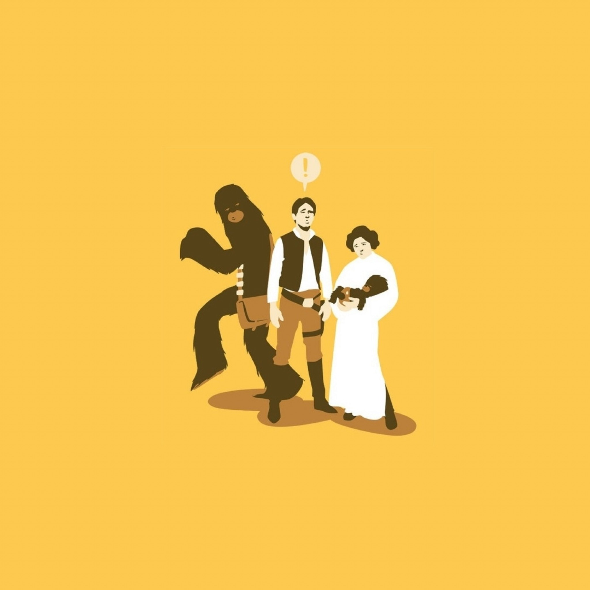 2048x2048 Preview wallpaper star wars, characters, drawing