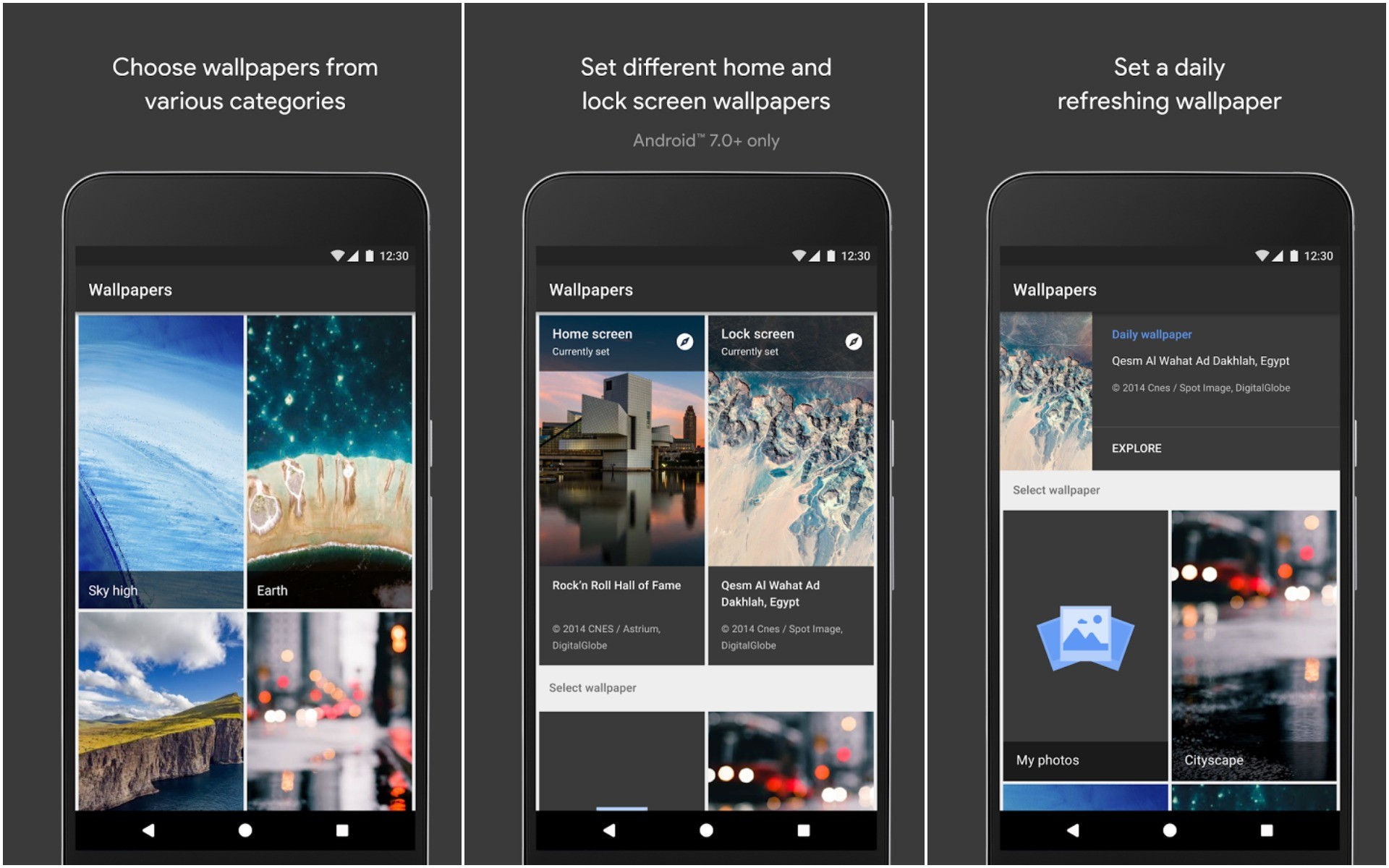 1920x1200 Google's Wallpapers app doesn't win any awards by default of them being  Google. It's on this list because it's a no-frills wallpapers app for  Android with ...