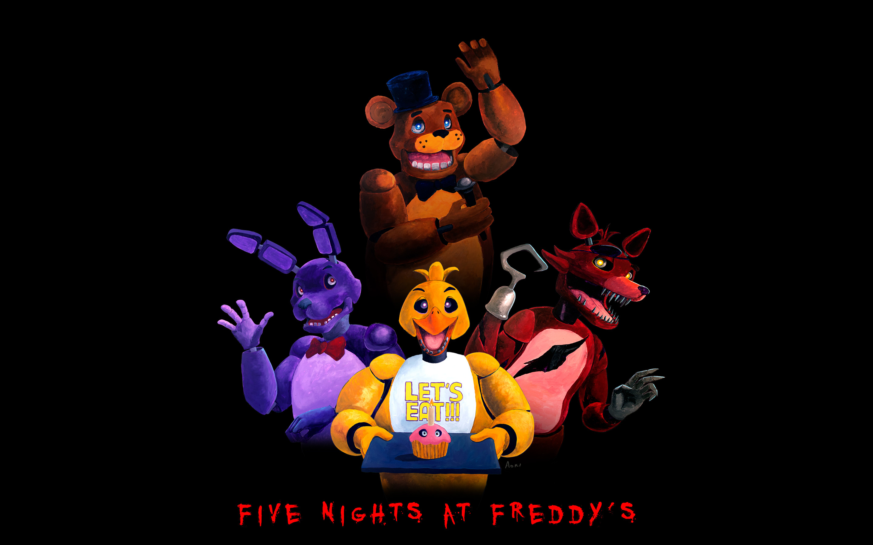 2880x1800 FNAF wallpaper by Aokibengal