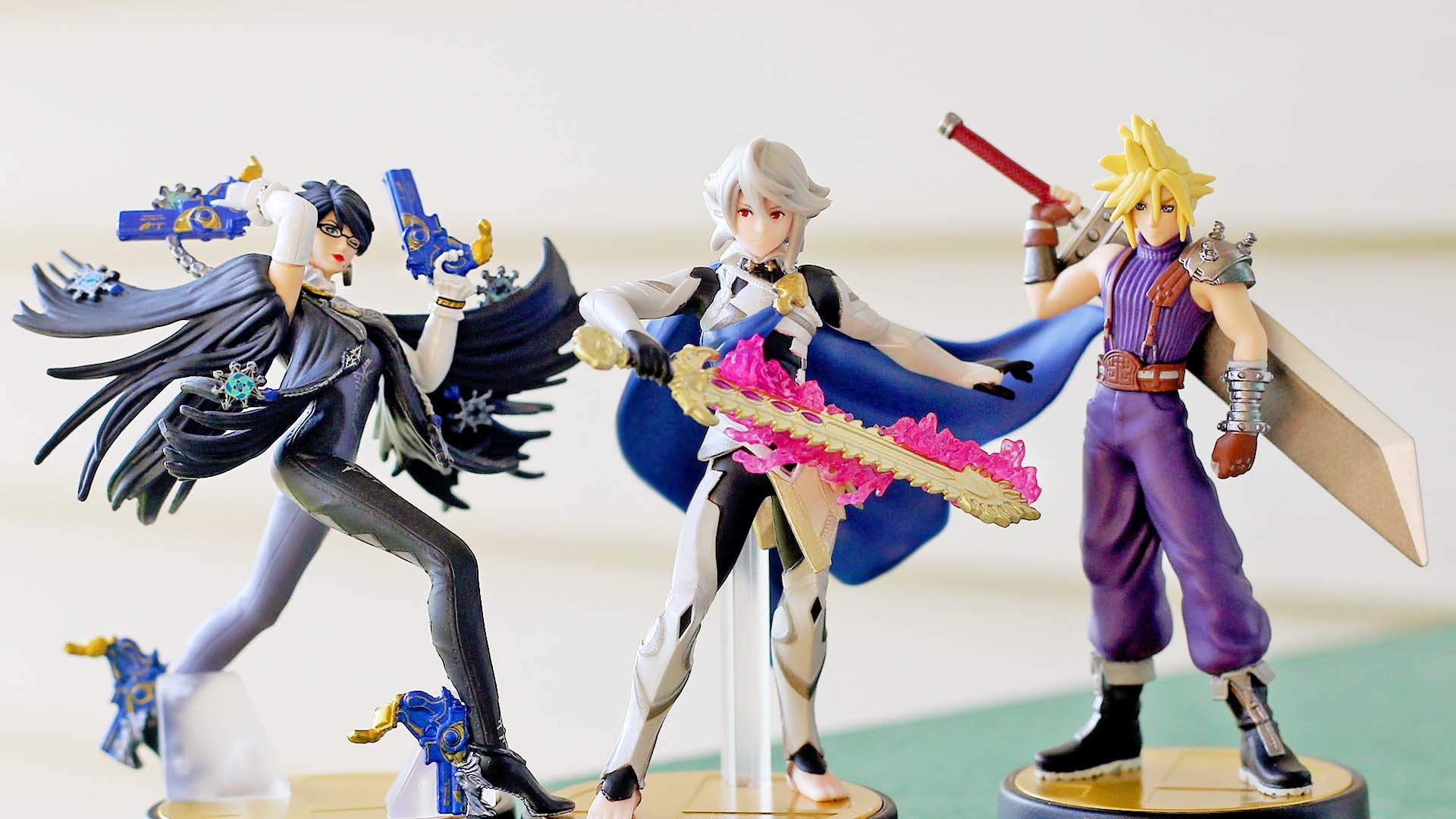 1920x1080 Unboxing | Super Smash Bros. Cloud, Corrin and Bayonetta amiibo (Player 1)  | Nintendo Wire