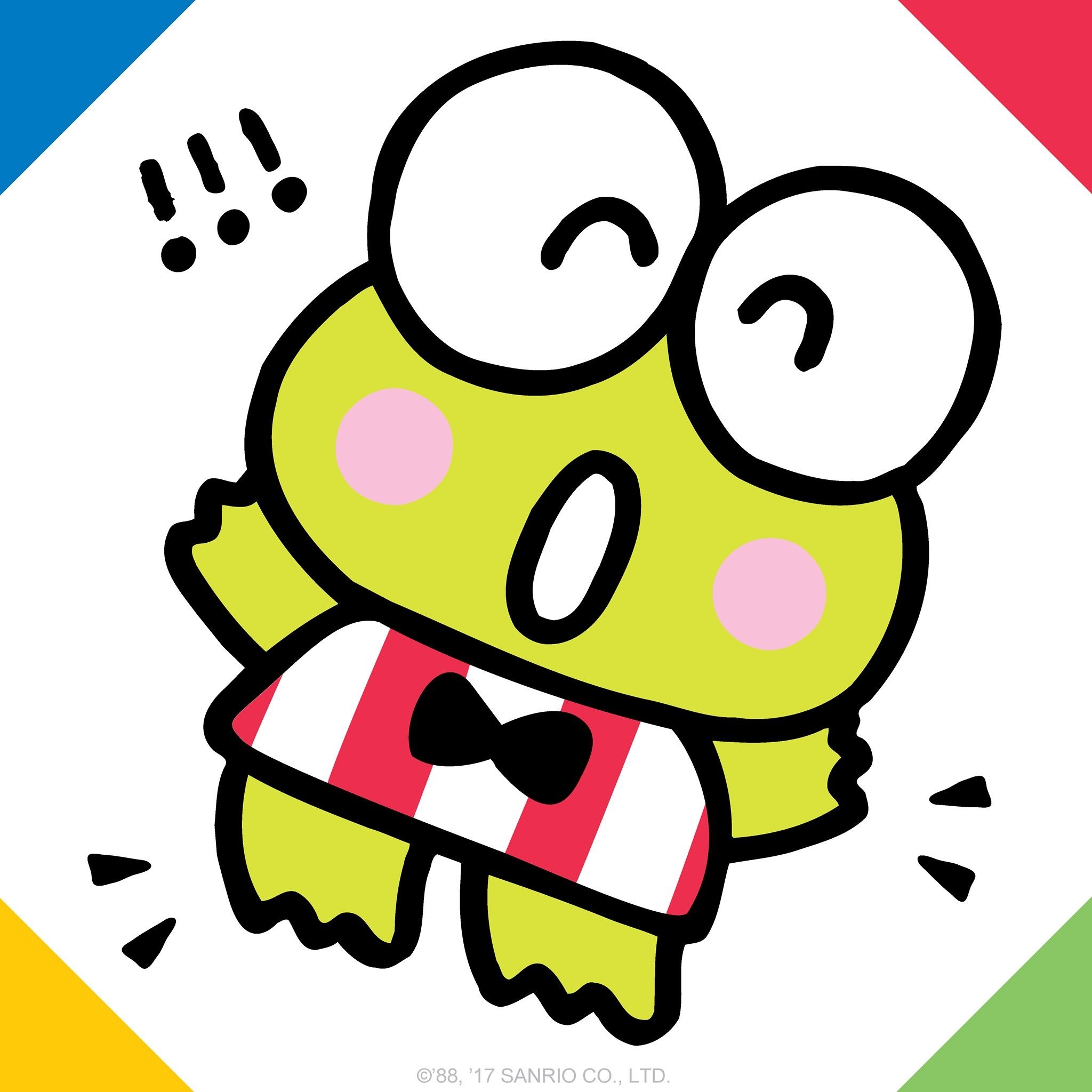 2048x2048 Keroppi is leaping high for Frog Jumping Day!