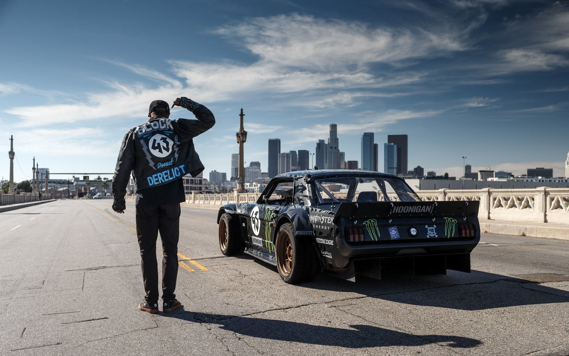 1920x1200 ford mustang rtr 1965 hoonicorn 845 hp gymkhana seven rear ken block los  angeles