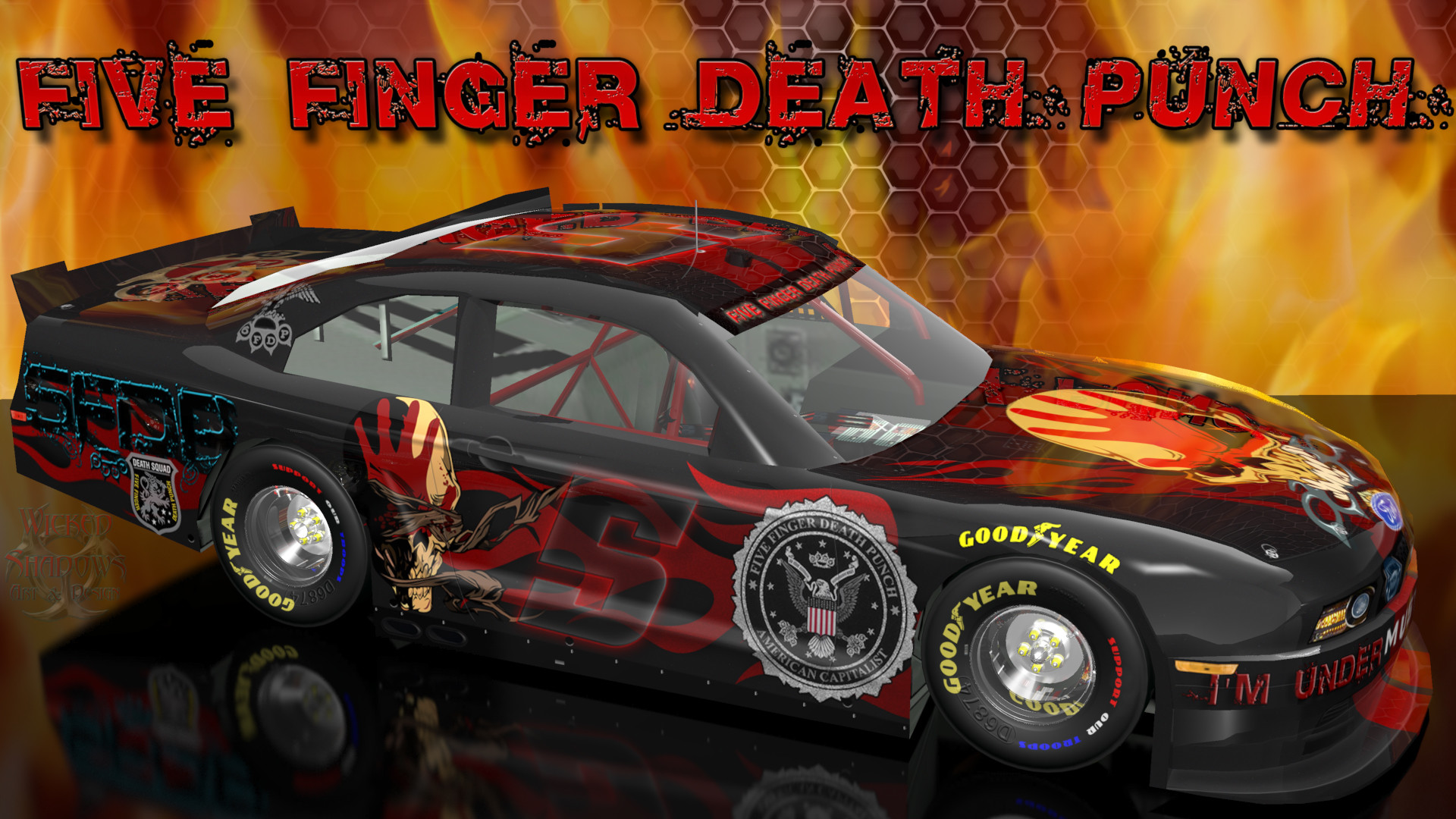 1920x1080 ... Single Car Alt Version | 16x10 | 16x10 Single Car Alt Version Five  Finger Death Punch Wicked Ford Mustang Wallpaper ...