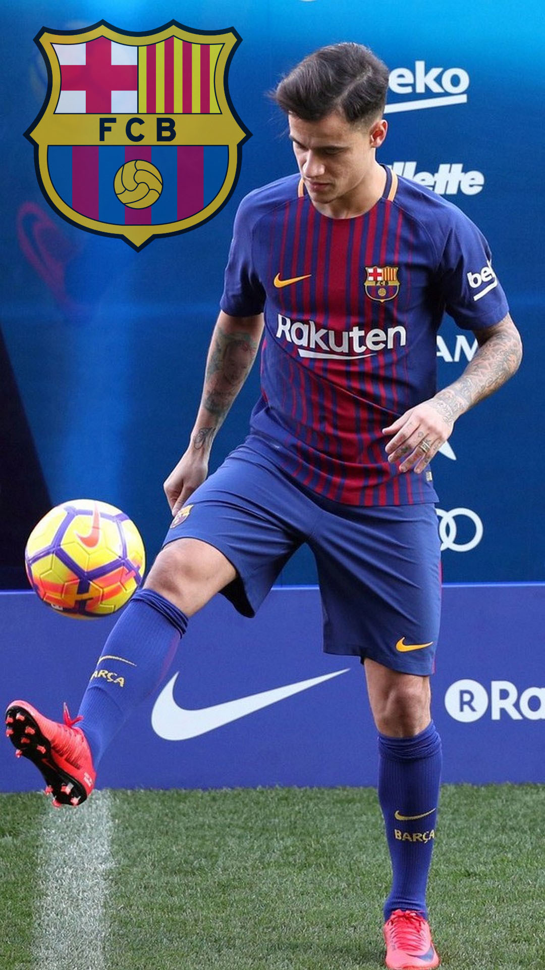 1080x1920 Coutinho FC Barcelona Wallpaper Android with HD resolution