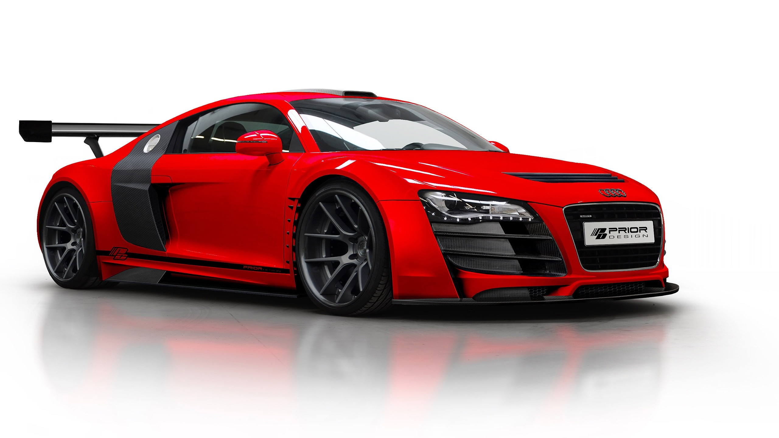 1920x1080 Wallpaper Audi R8 V10 Side View Black