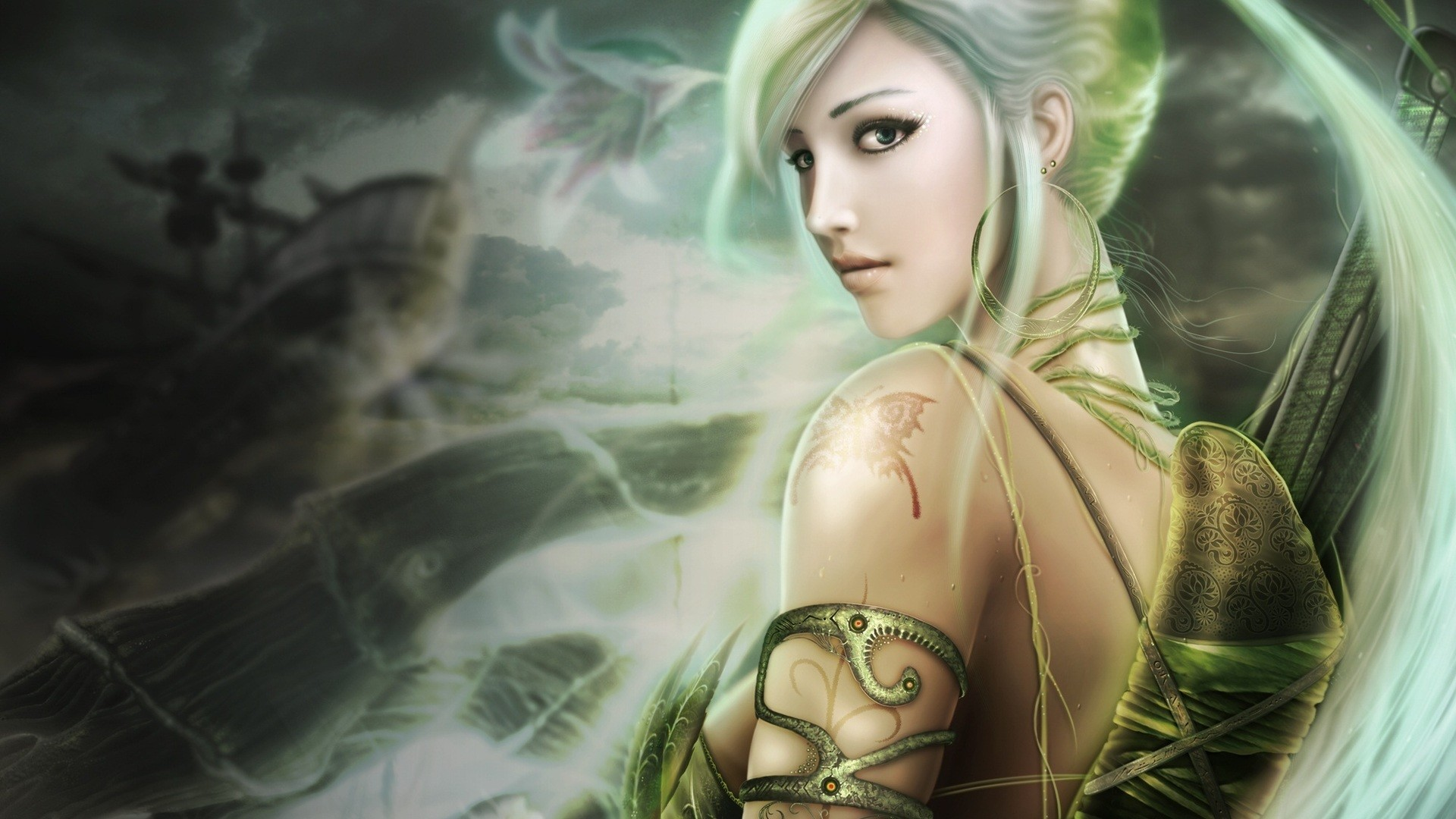 1920x1080 Fantasy Women WallpaperBackground x Id