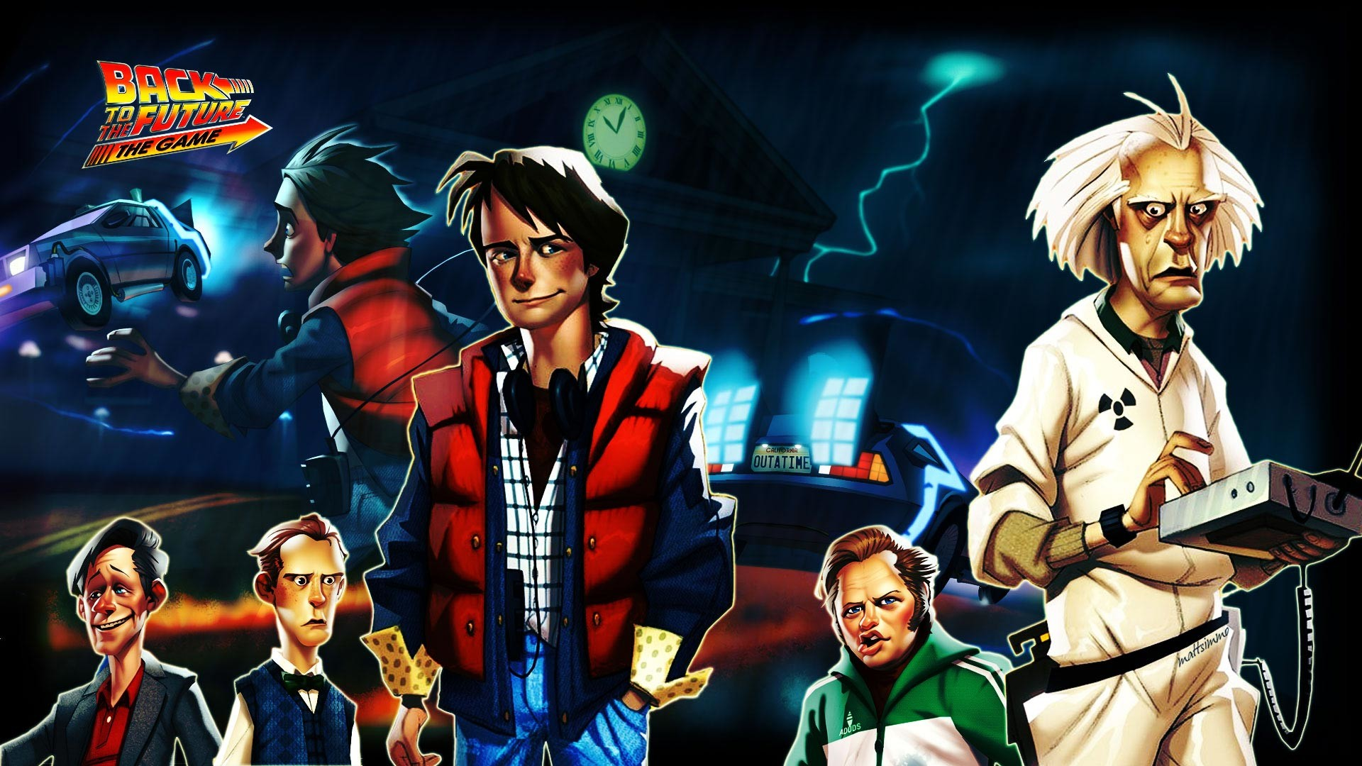 1920x1080  Wallpaper back to the future the game, telltale games, pc, ipad,