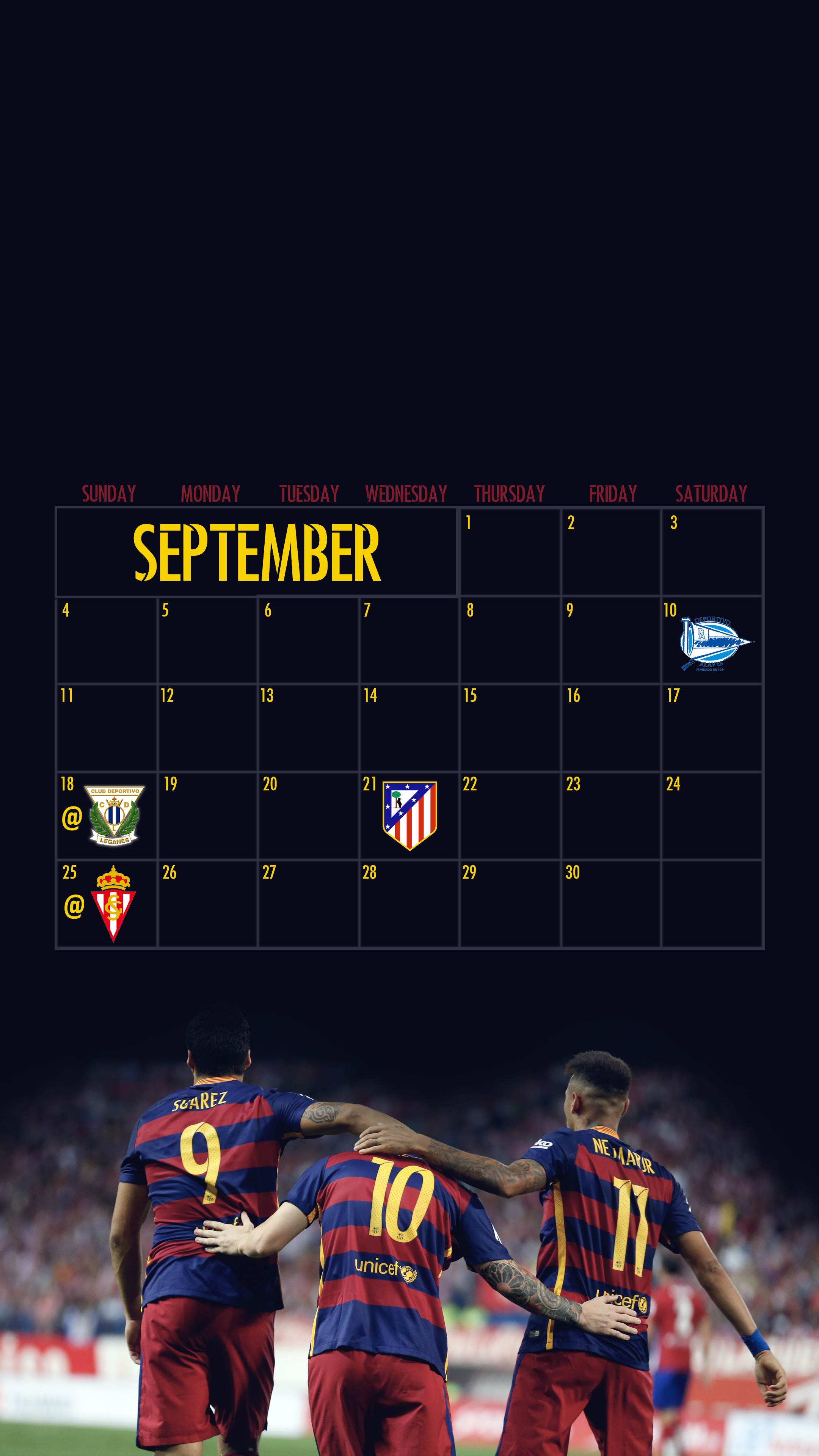 2160x3840 Made a Barca September Wallpaper. Hope you enjoy it !
