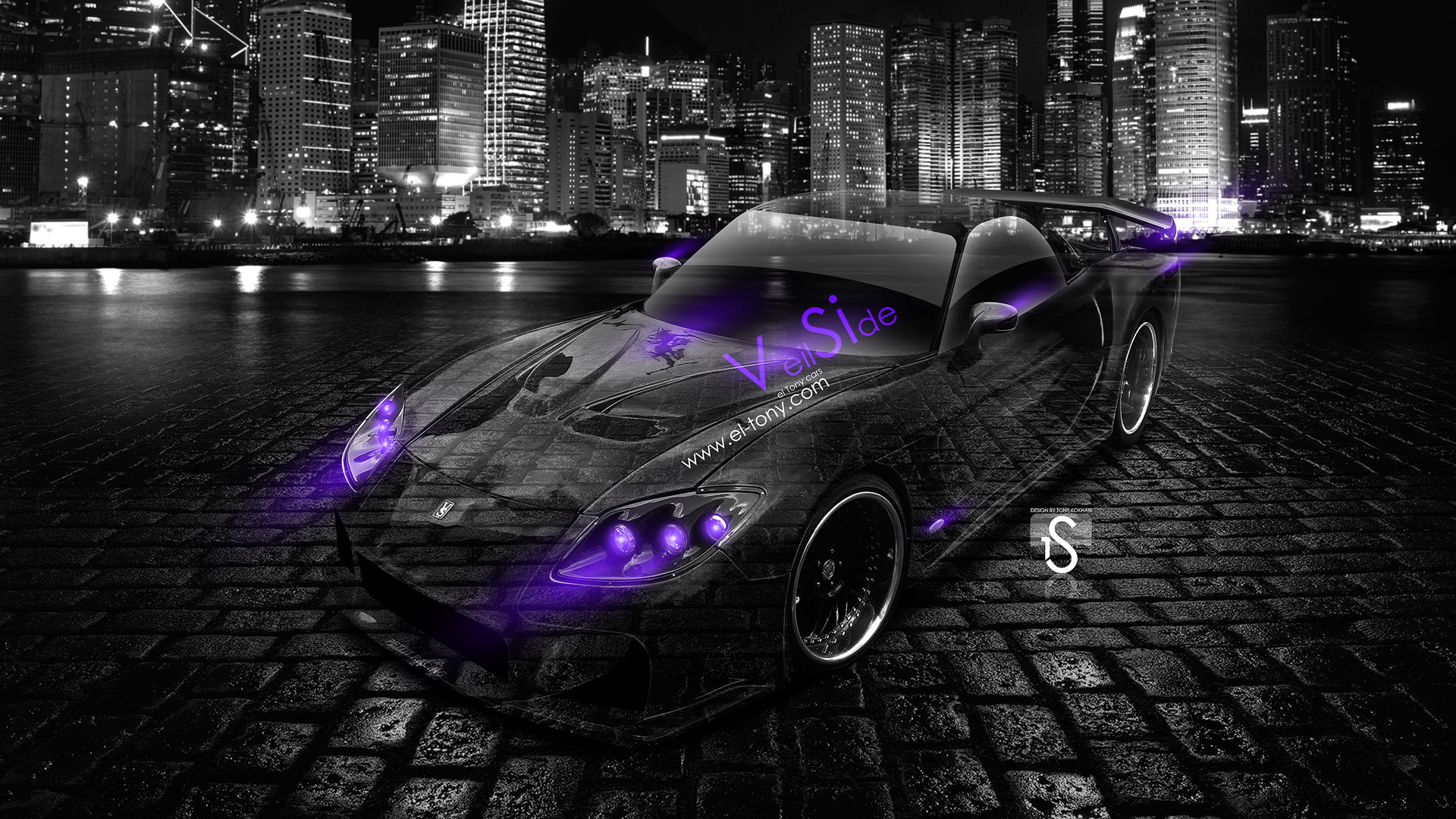 Delicieux 1920x1080 Mazda RX7 Veilside Bodykit JDM Violet Neon Crystal