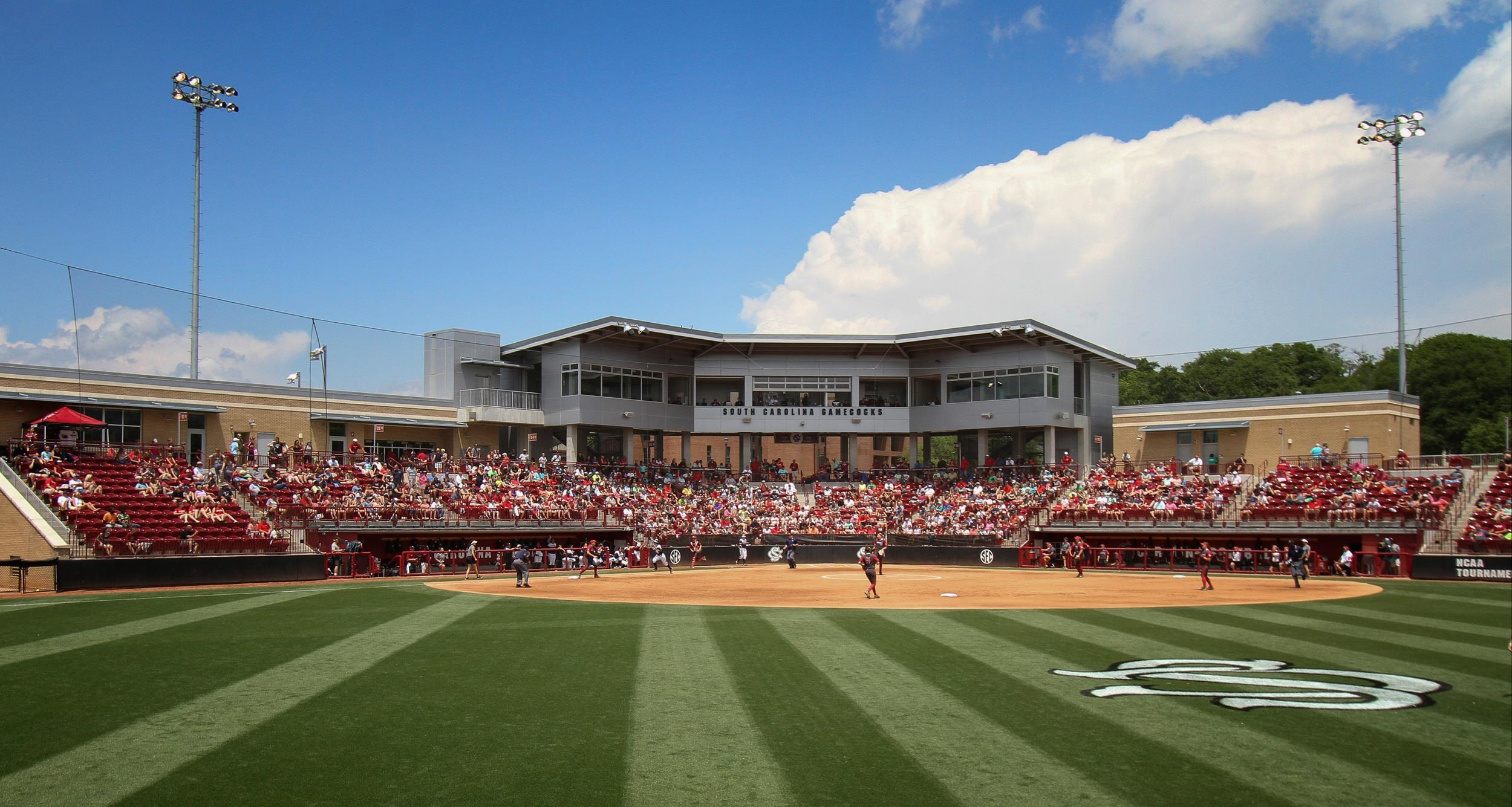 2500x1335 INSIDE CAROLINA SOFTBALL STADIUM AT BECKHAM FIELD. View Photos