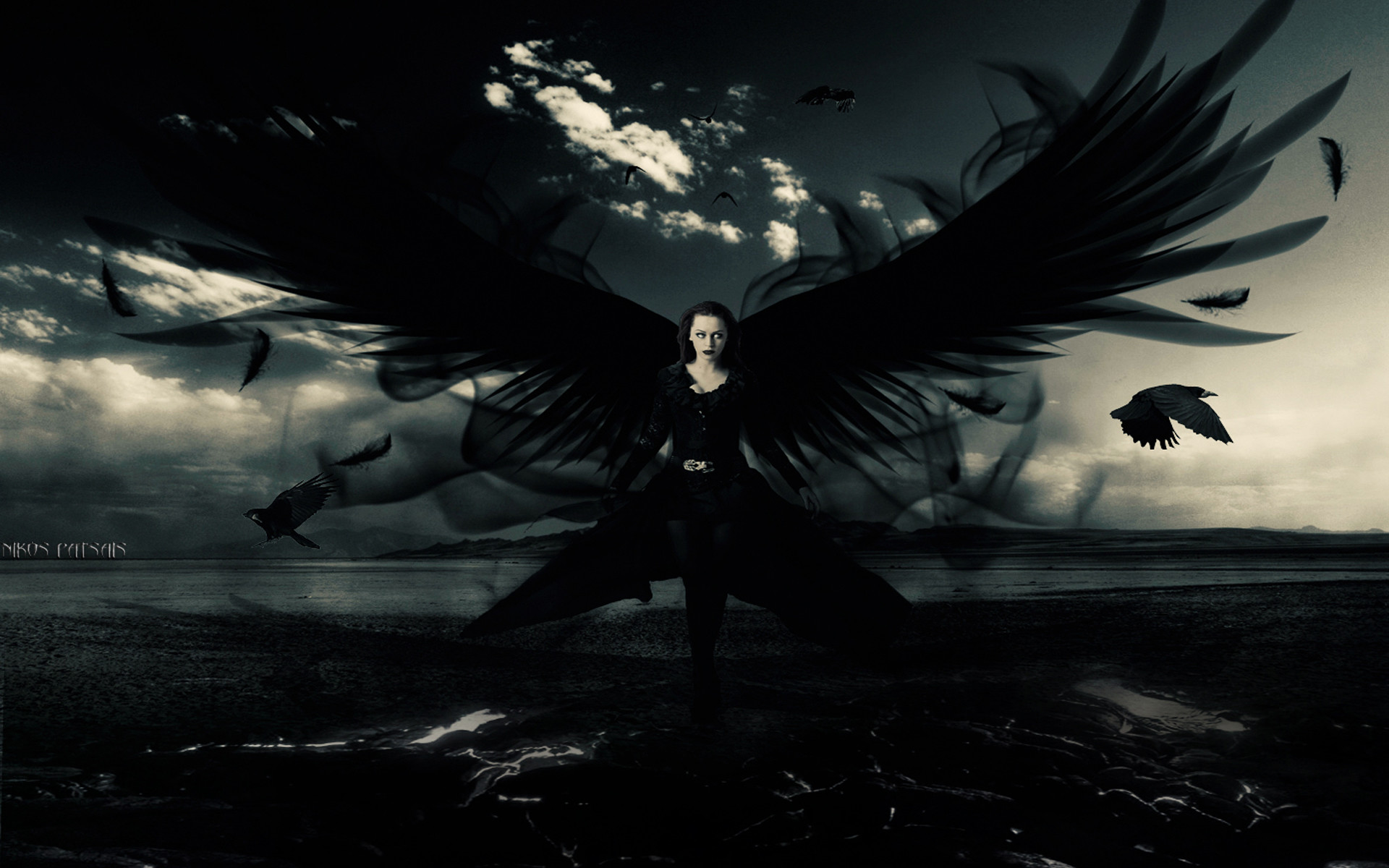 1920x1200 Dark angel wallpapers and stock photos