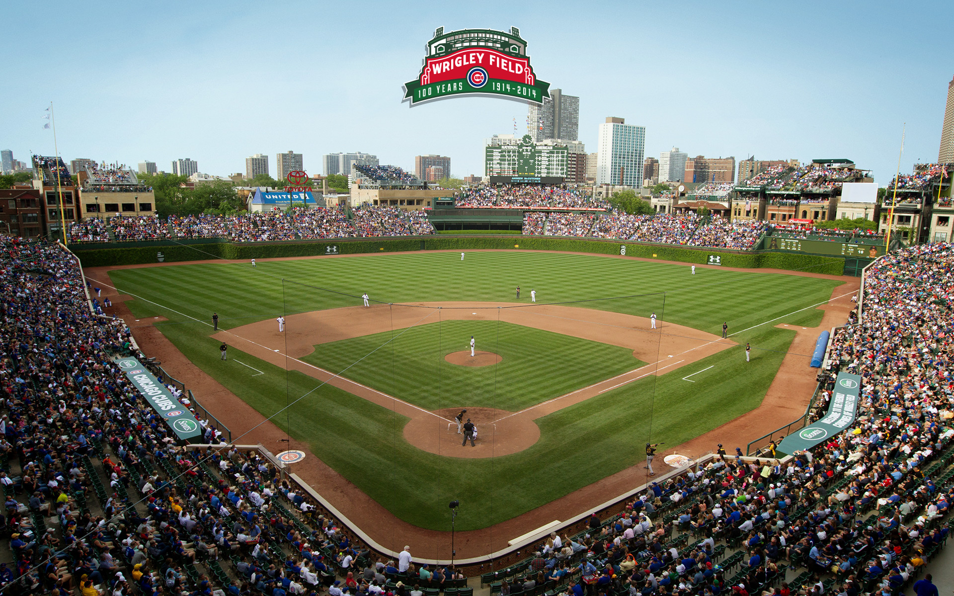 1920x1200 Wrigley Field 100 | Chicago Cubs