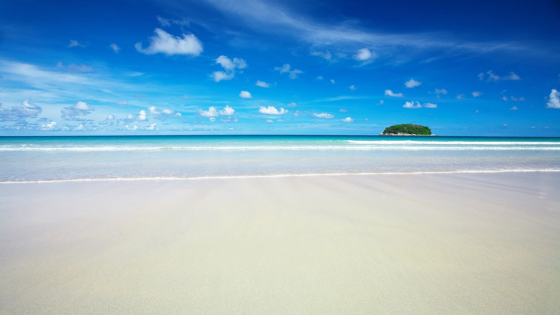 1920x1080 HD Sky Blue Beach Wallpapers | HD Wallpapers