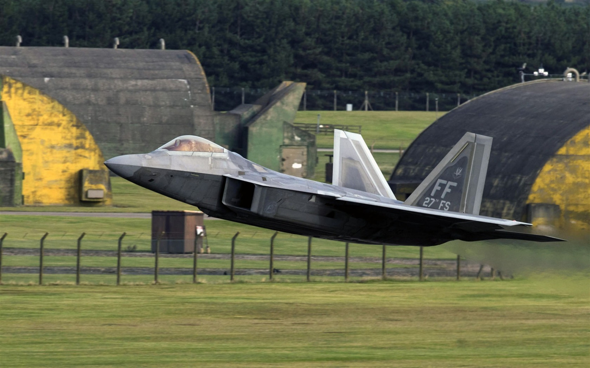 1920x1200 Lockheed F-22 Raptor, fighter, military aircraft, US Air Force, USA