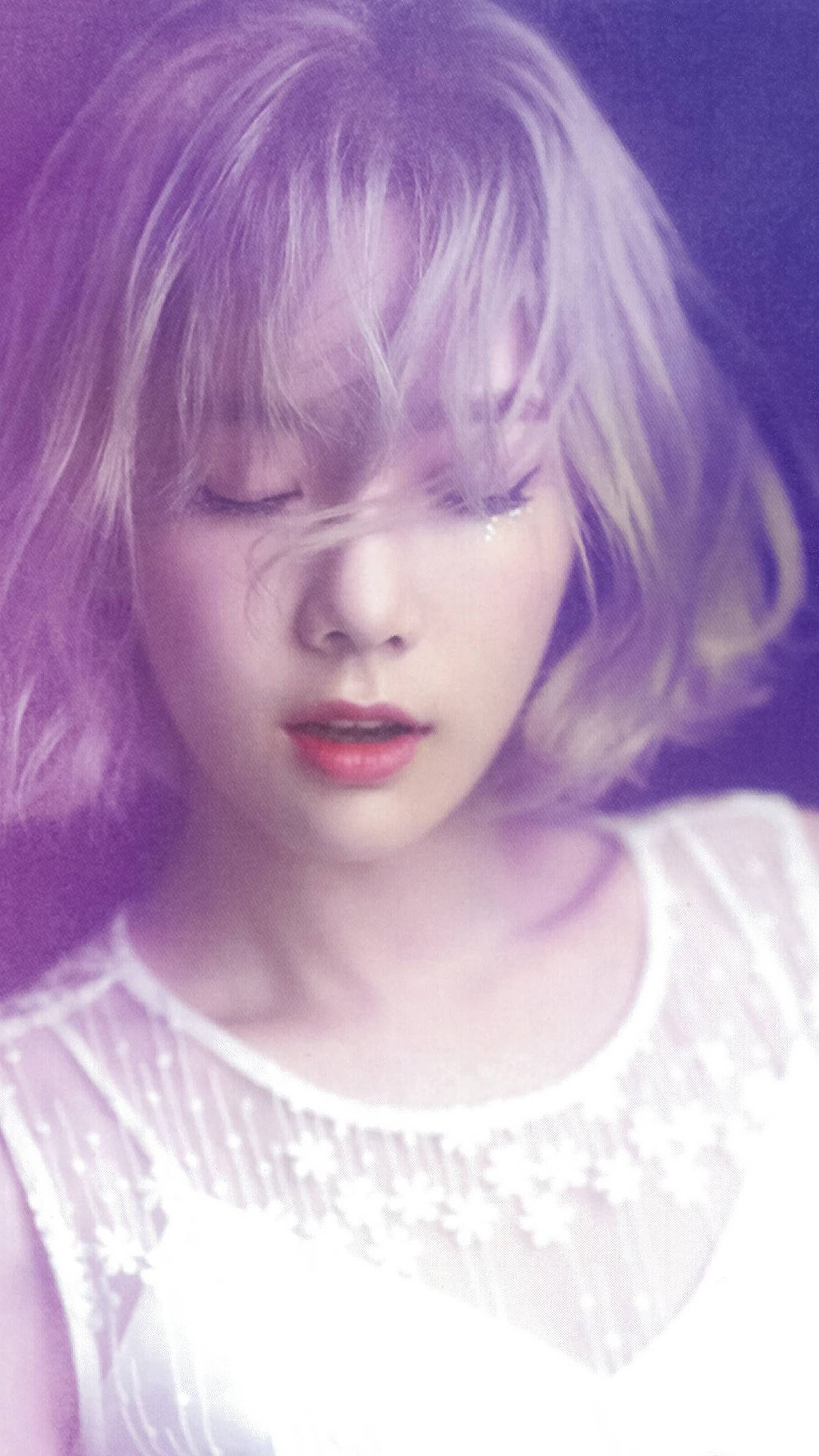 1242x2208 Related taeyeon snsd kpop girl purple pink iphone 7 wallpaper