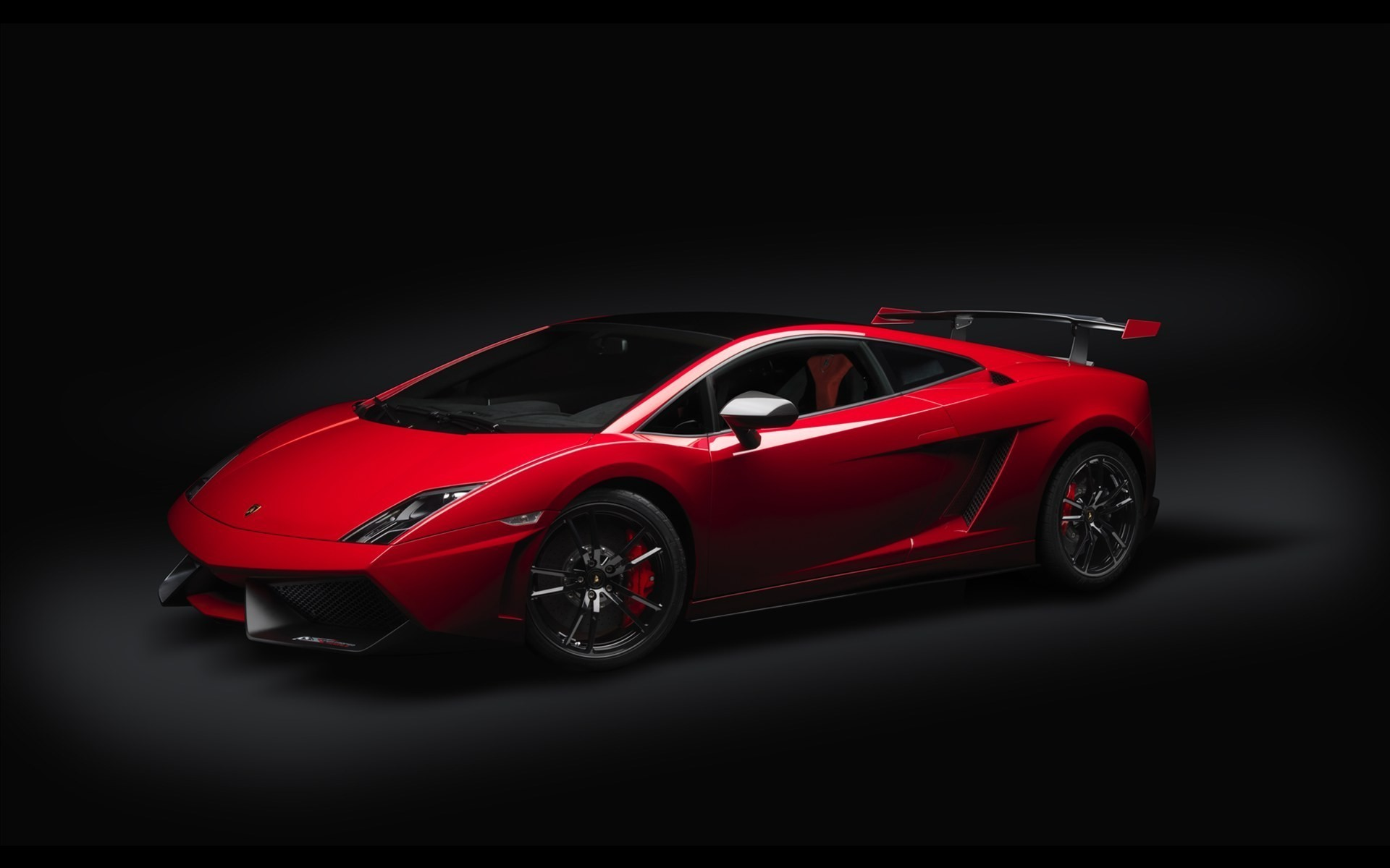 1920x1200 Lamborghini black background cars red vehicles wallpaper