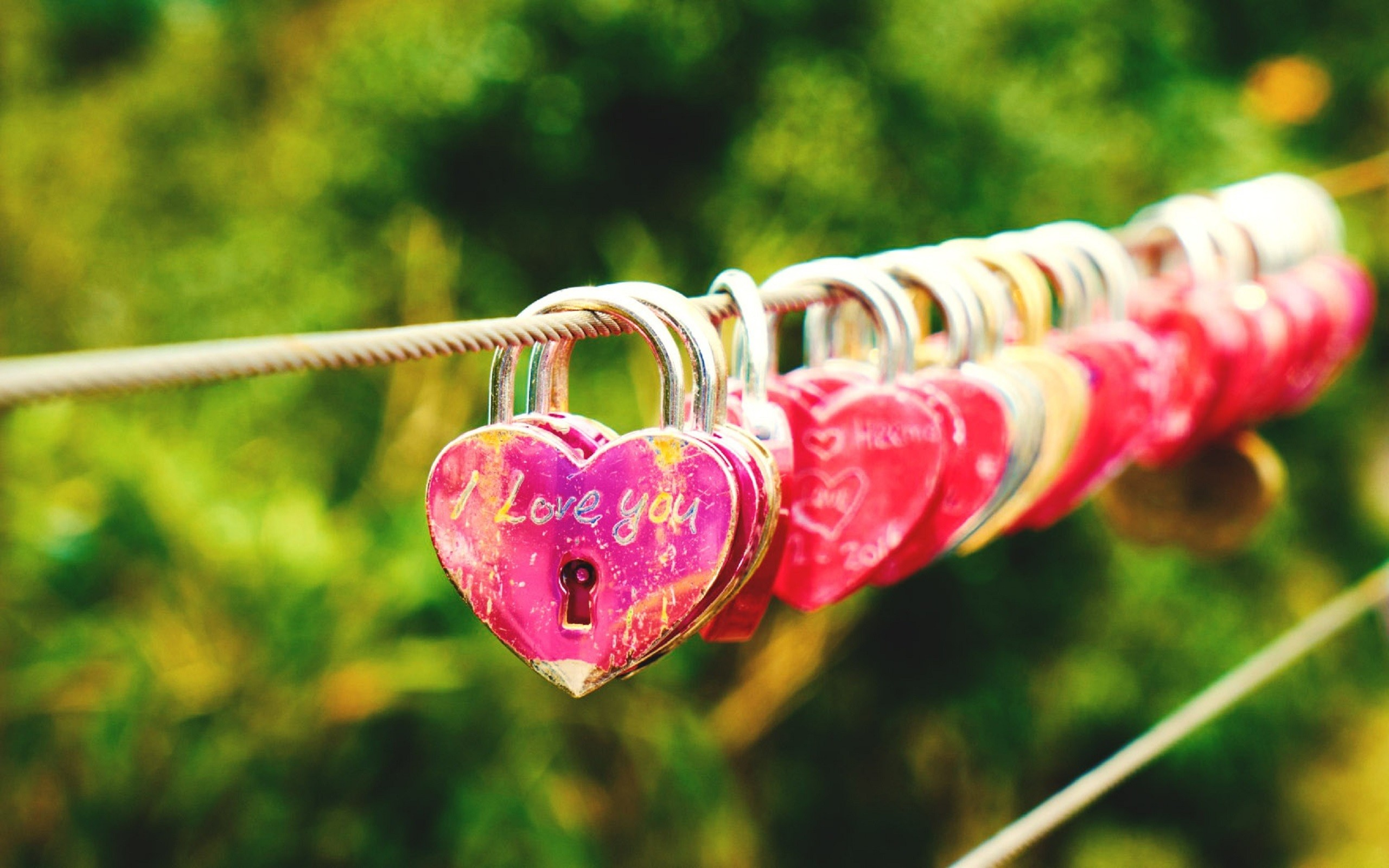 2560x1600 Romantic Lock Line Wallpaper