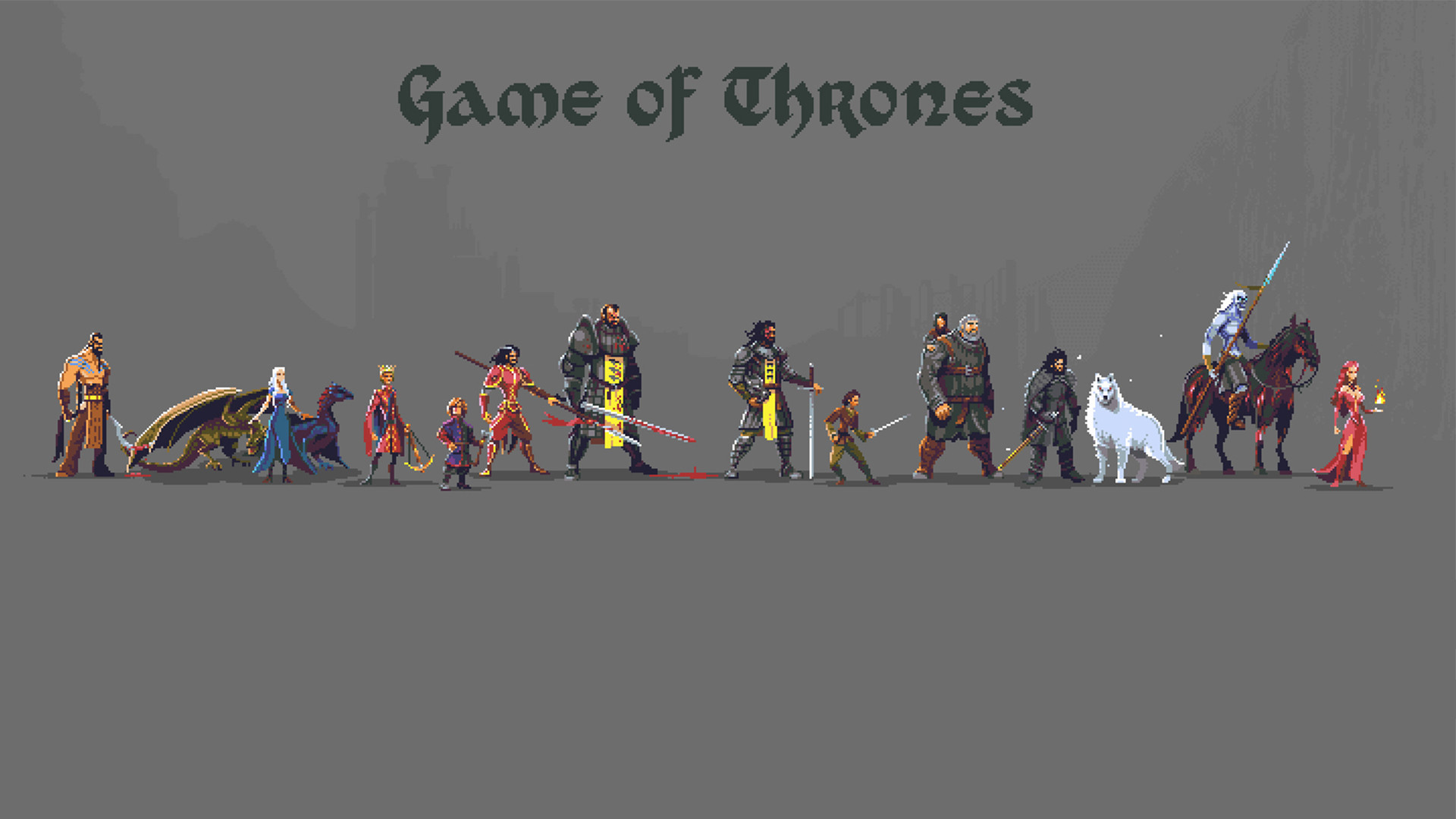 1920x1080 Game of Thrones Pixel art [] : wallpapers
