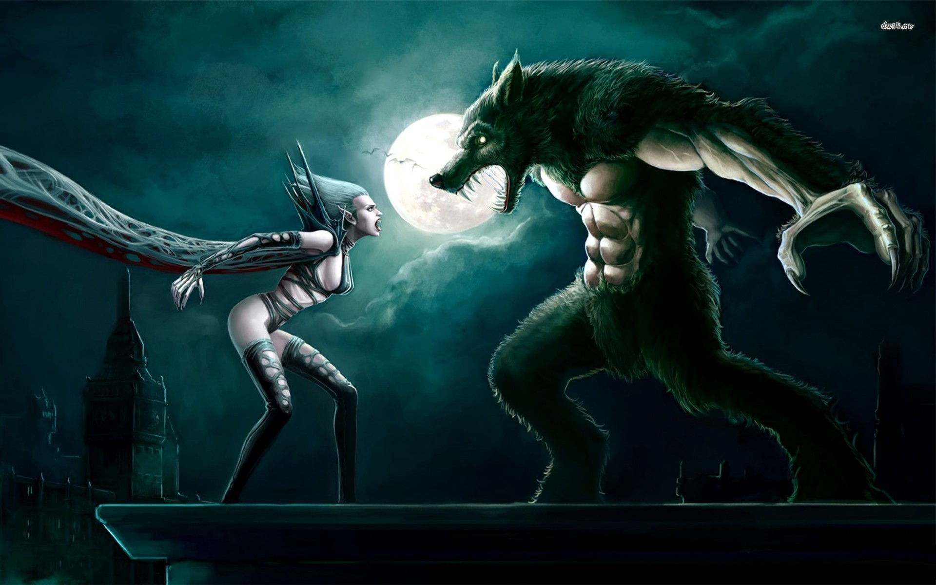 1920x1200 Vampire vs werewolf wallpaper - 976208