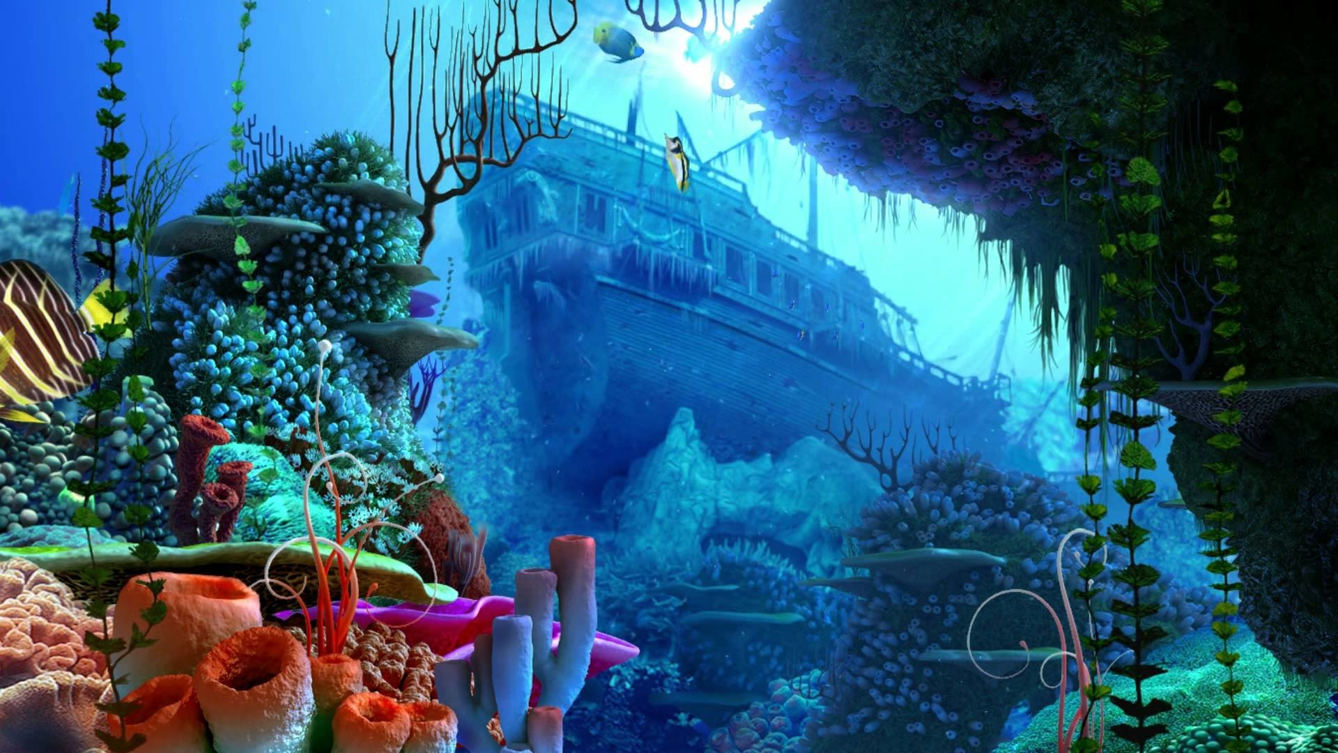 1920x1080 Ocean Dream - Eden by Ledovskiy Valeriy - Aquarium - 3D Screensaver - New  Age HD 1080p - YouTube
