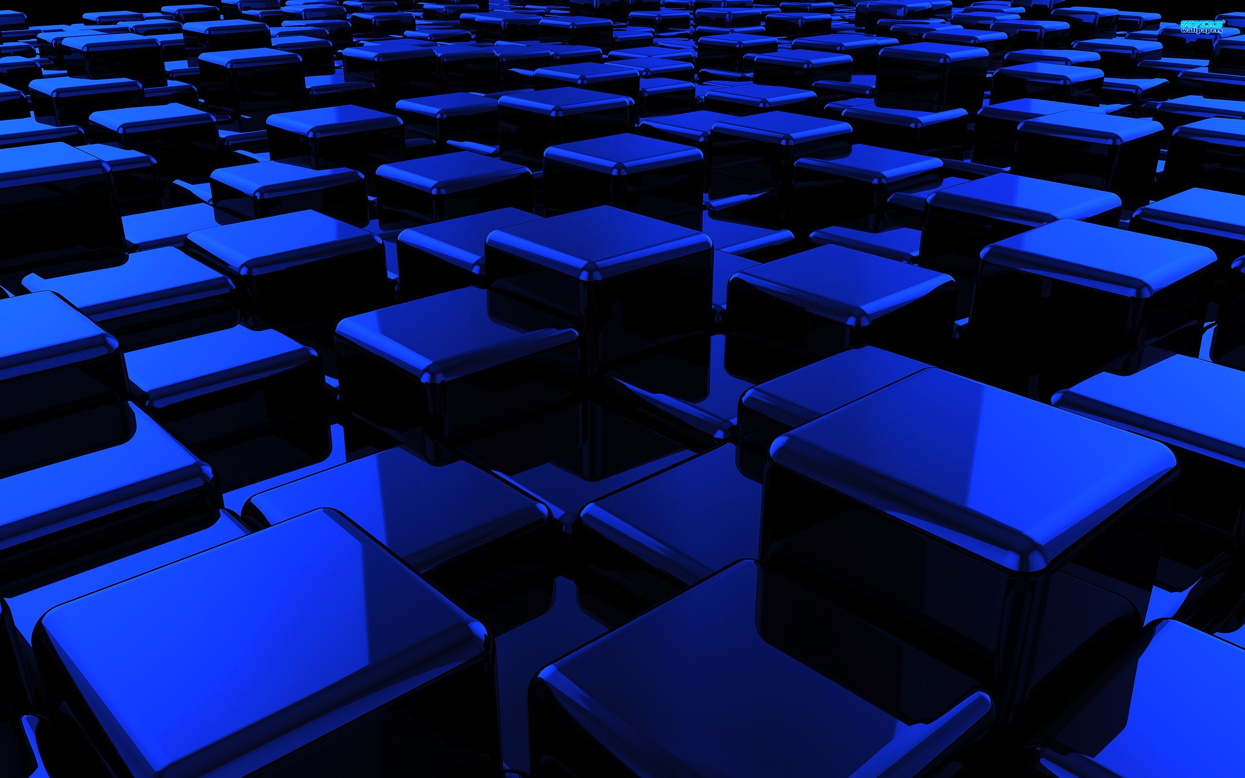 2560x1600 Blue Cubes Wallpaper  Blue, Cubes