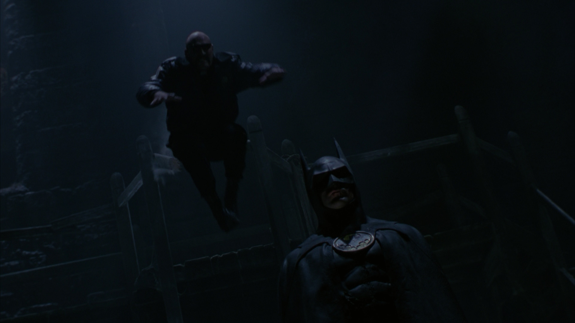 1920x1080 Lawrence leaping at Batman at the Gotham Cathedral