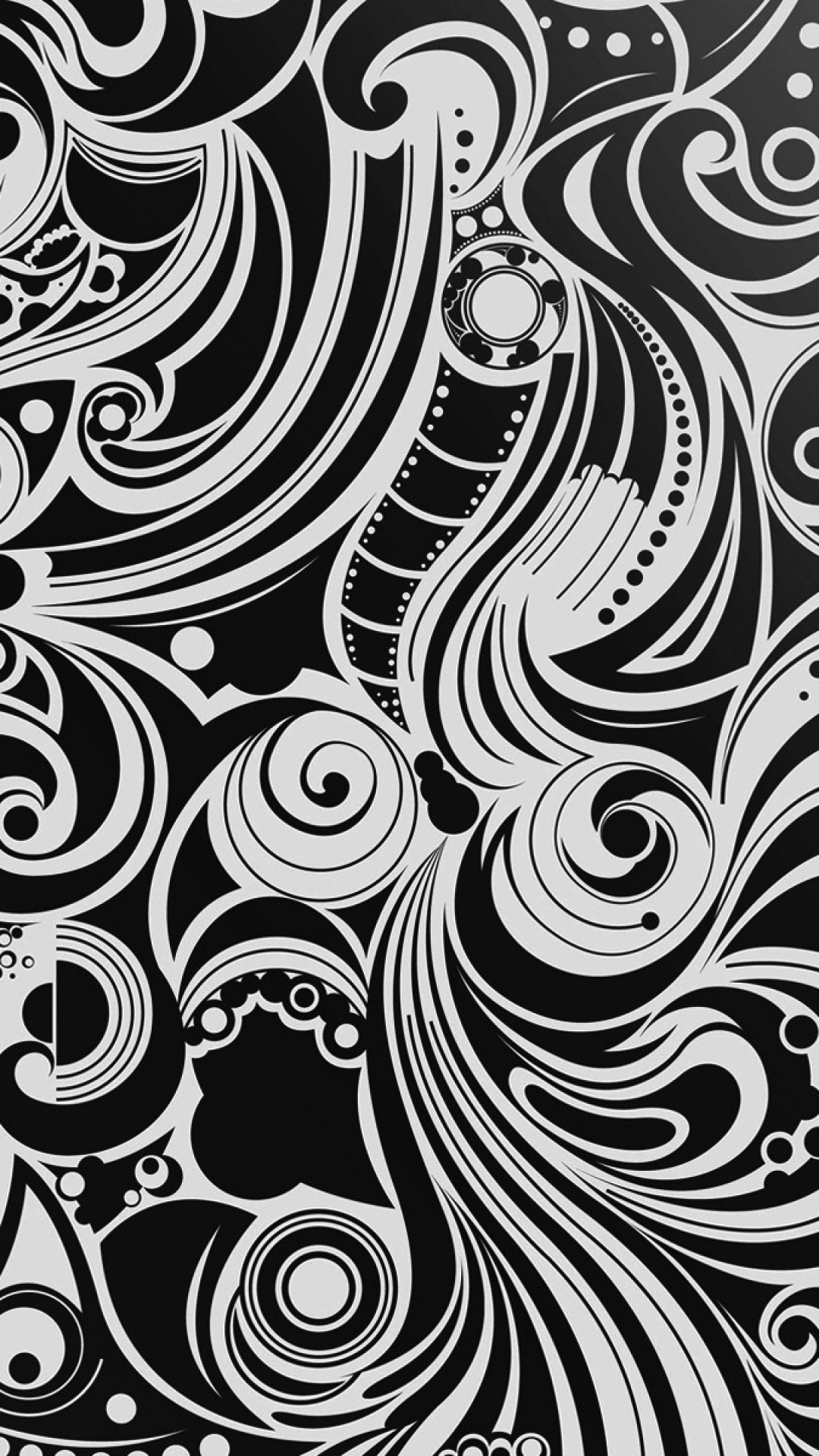 1080x1920 Black And White Spiral Pattern Android Wallpaper ...