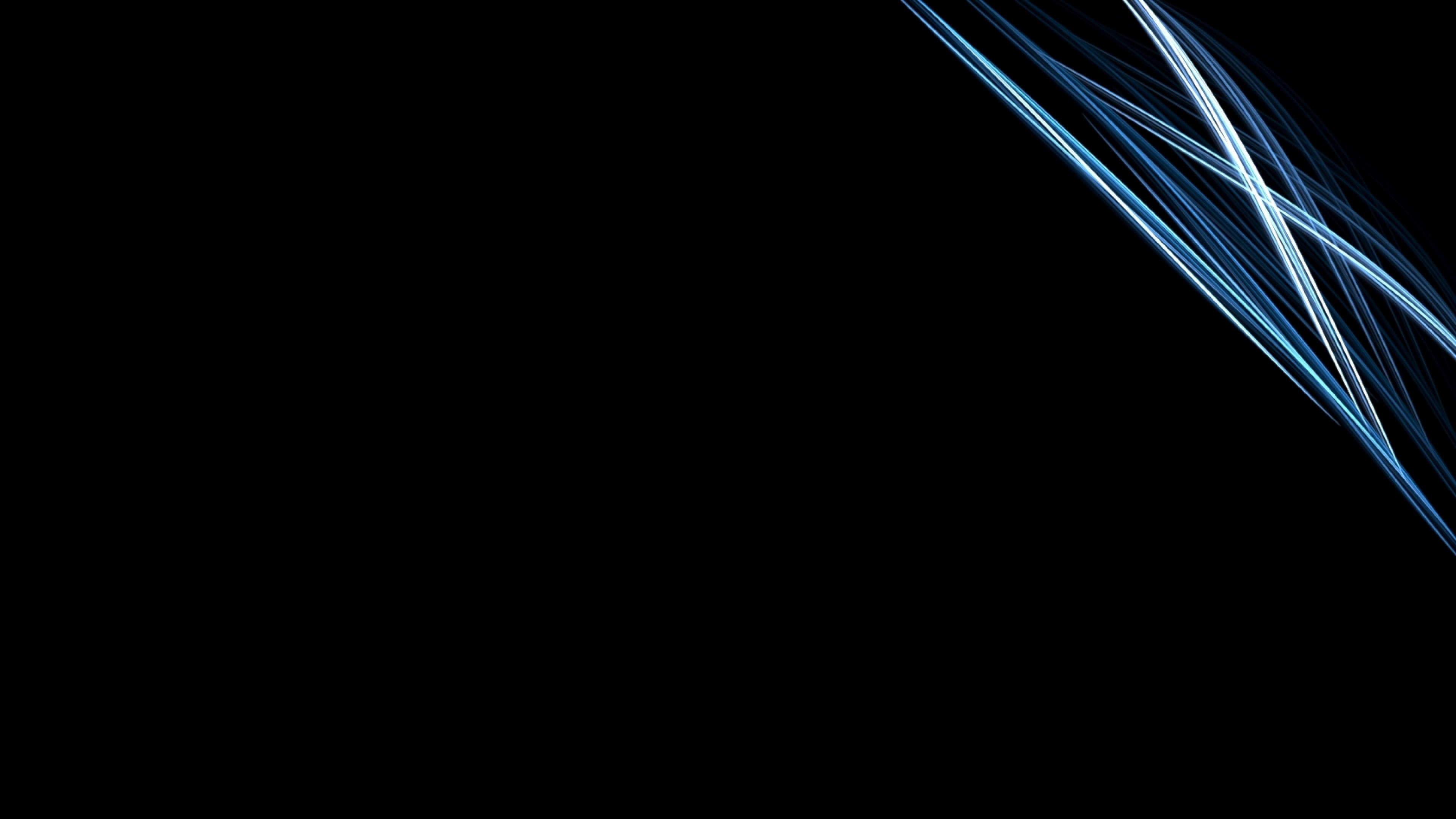 3840x2160 Preview wallpaper black, white, line, silver