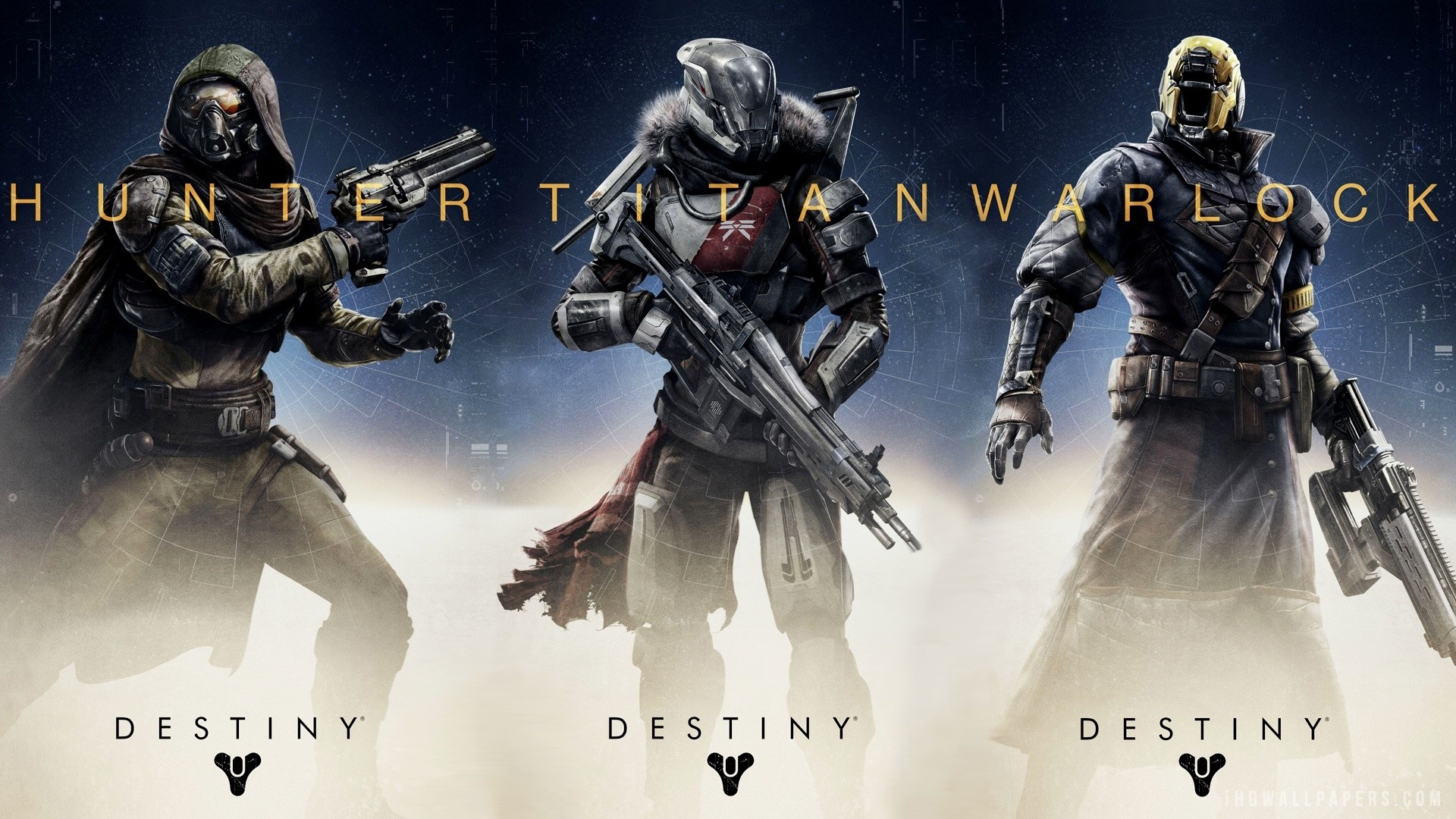 1920x1080 Destiny Hunter Titan Warlock HD Wallpaper - iHD Wallpapers