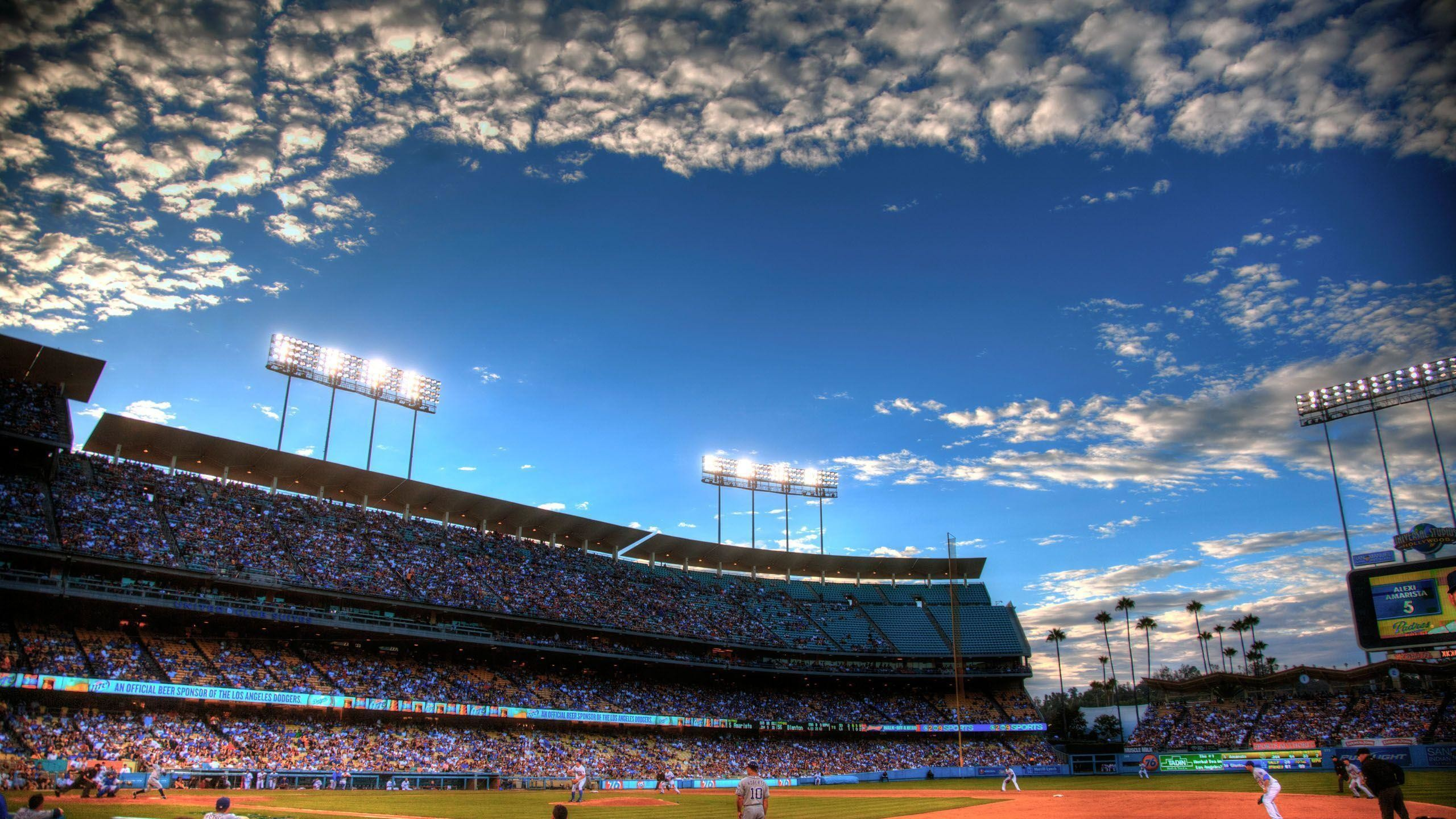 2560x1440 Los Angeles Dodgers Stadium HD Wallpaper Download Logo And Photo .