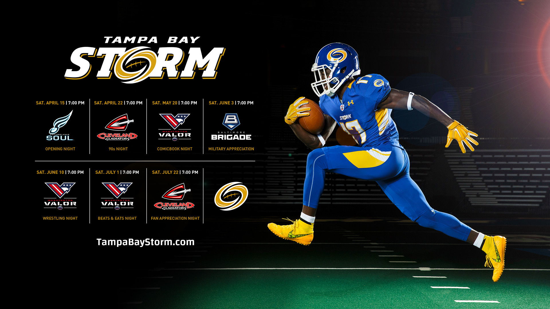 1920x1080 2017 Tampa Bay Storm Wallpaper