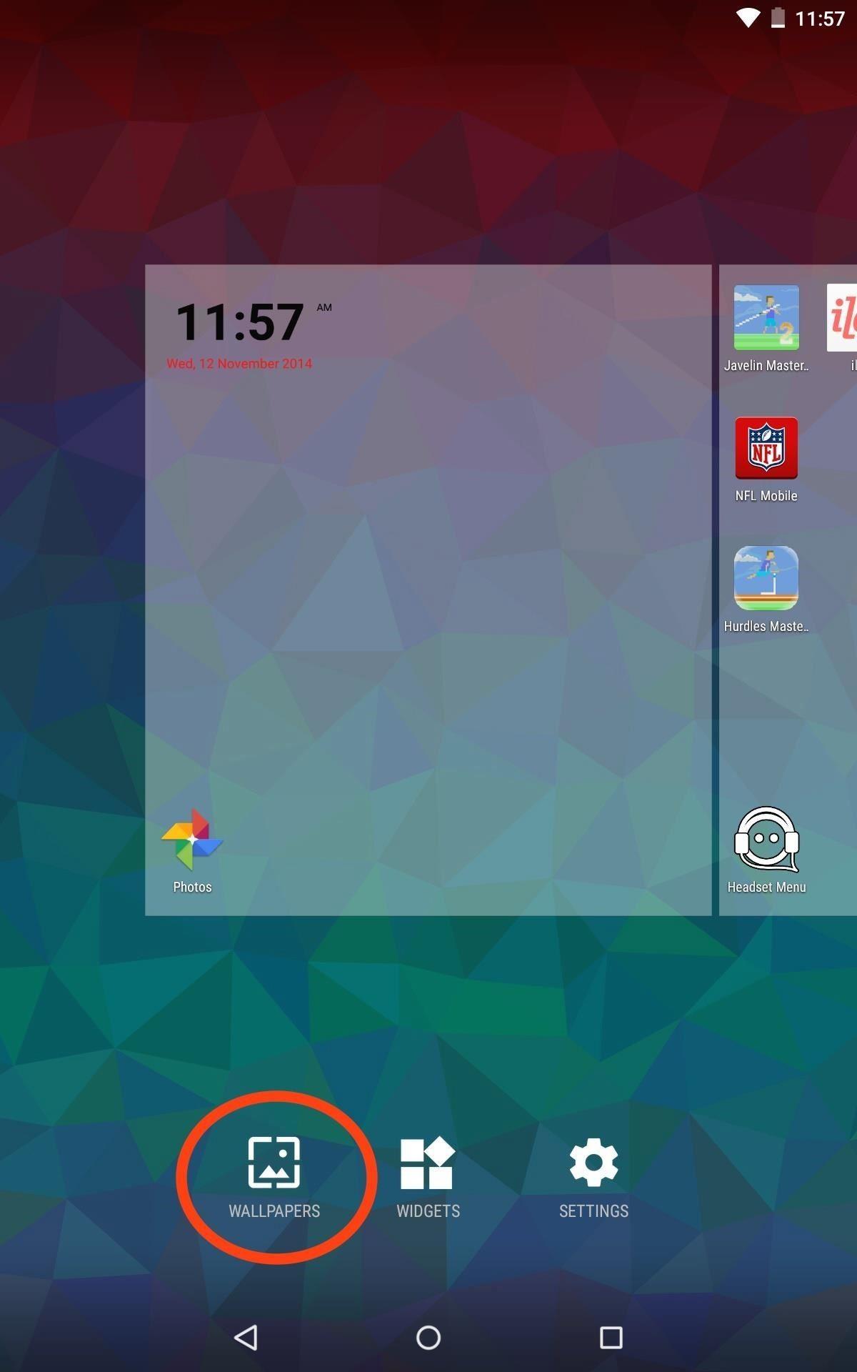 nougat live wallpaper lock screen