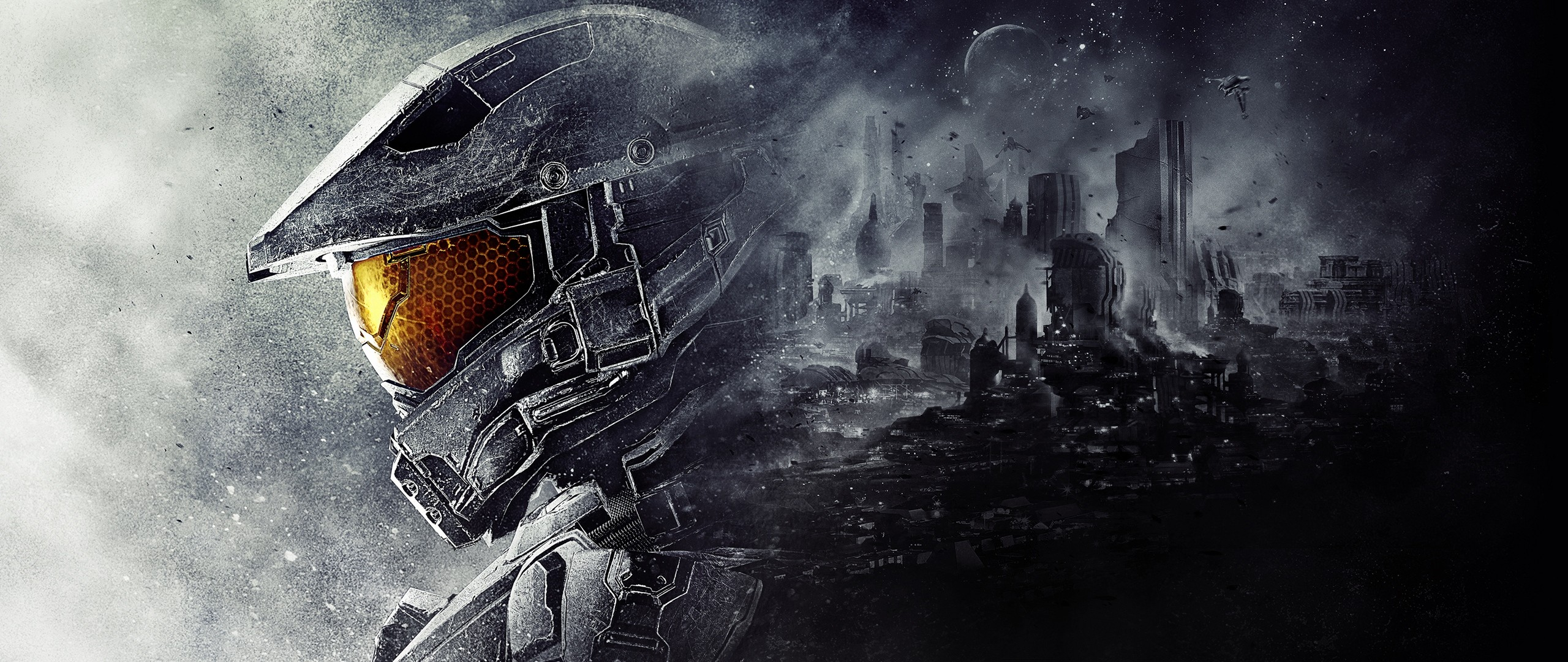 2560x1080 Preview wallpaper halo 5, guardians, 343 industries, master chief